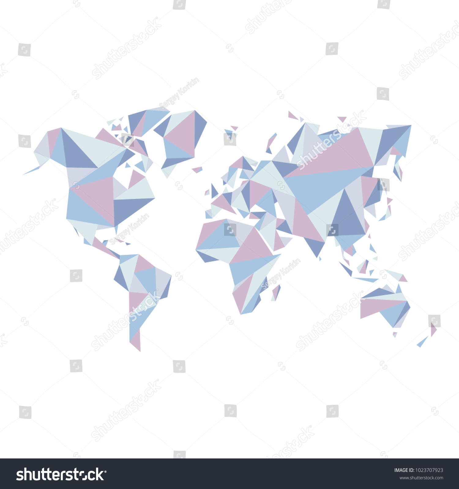 abstract world map vector illustration geometric stock vector 1023707923 shutterstock