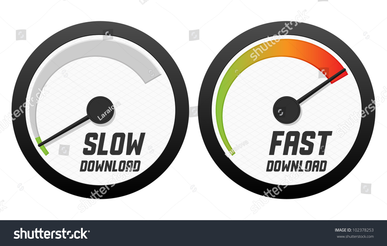 speedometers slow fast download vector illustration stock vector