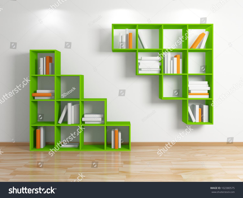 modern bookshelf best  modern bookcase ideas only on pinterest  - modern bookshelfisolated on white backgroundd rendered stock