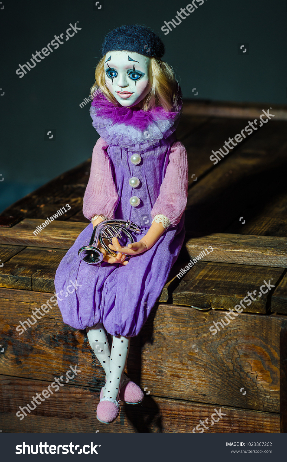 Halloween Cosplay 2020 Piero Piero Textile Doll Circus Toy Plastic | Objects Stock Image 1023867262