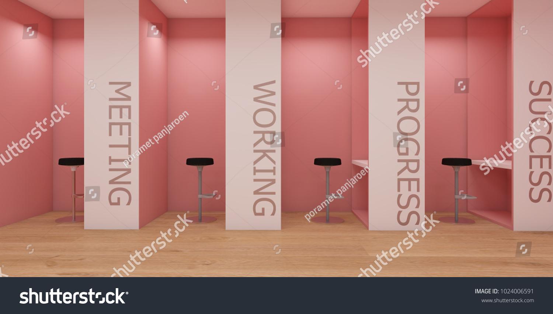 minimal office. Minimal Office Interior Concept Pink Pastel Stock Illustration 1024006591 - Shutterstock