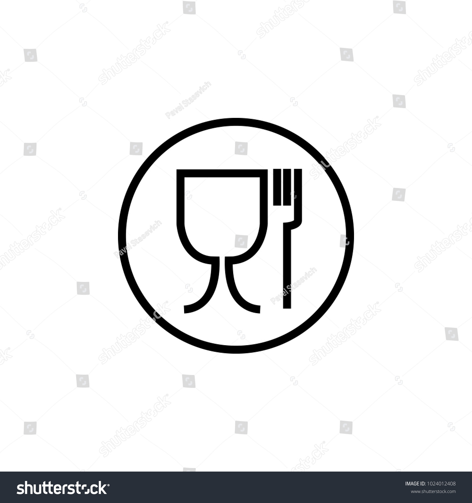 Food safe symbol international symbol food stock vector 1024012408 food safe symbol the international symbol for food safe material is a wine glass and biocorpaavc Gallery