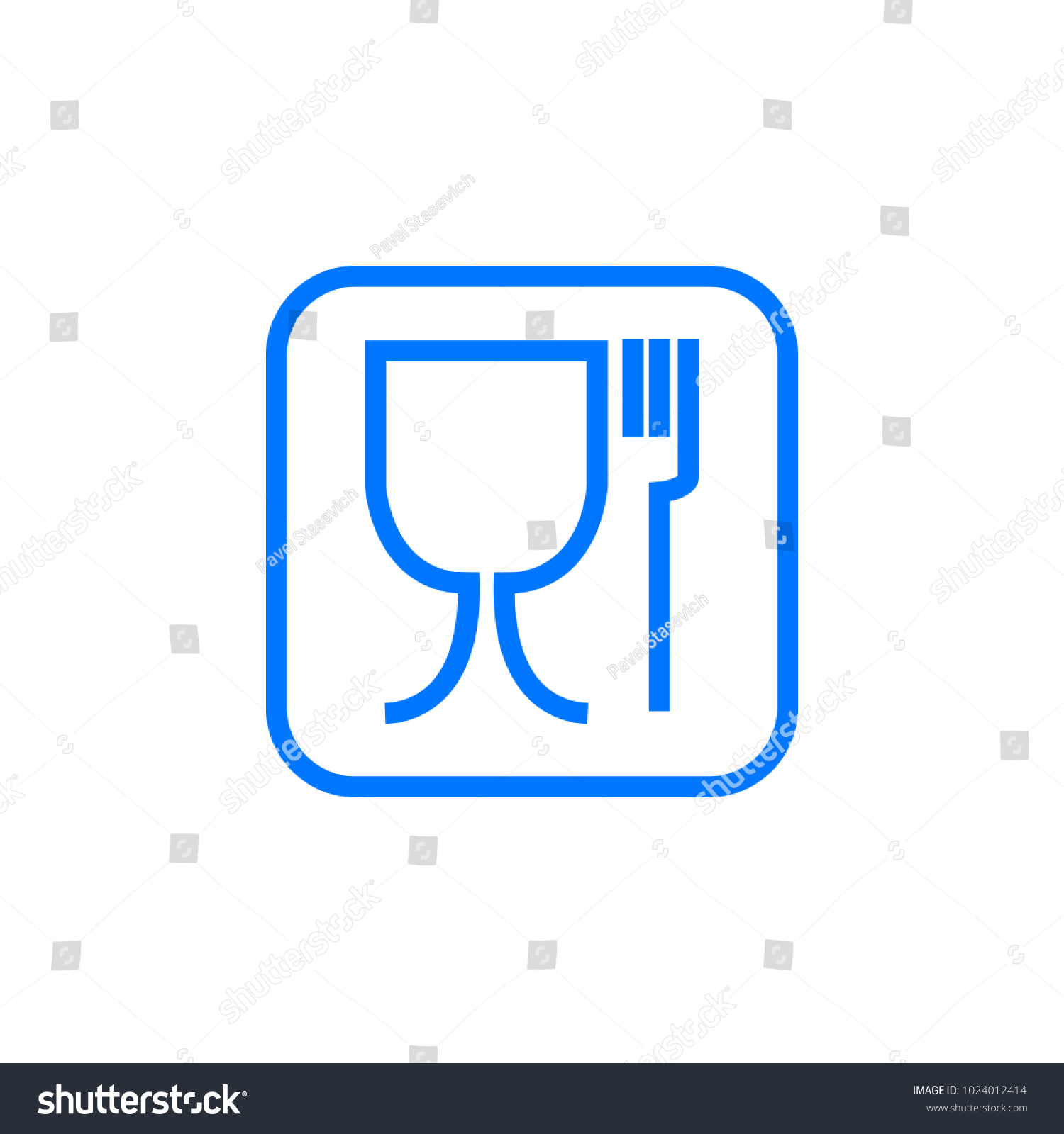 Food safe symbol international symbol food stock vector 1024012414 food safe symbol the international symbol for food safe material is a wine glass and biocorpaavc Gallery