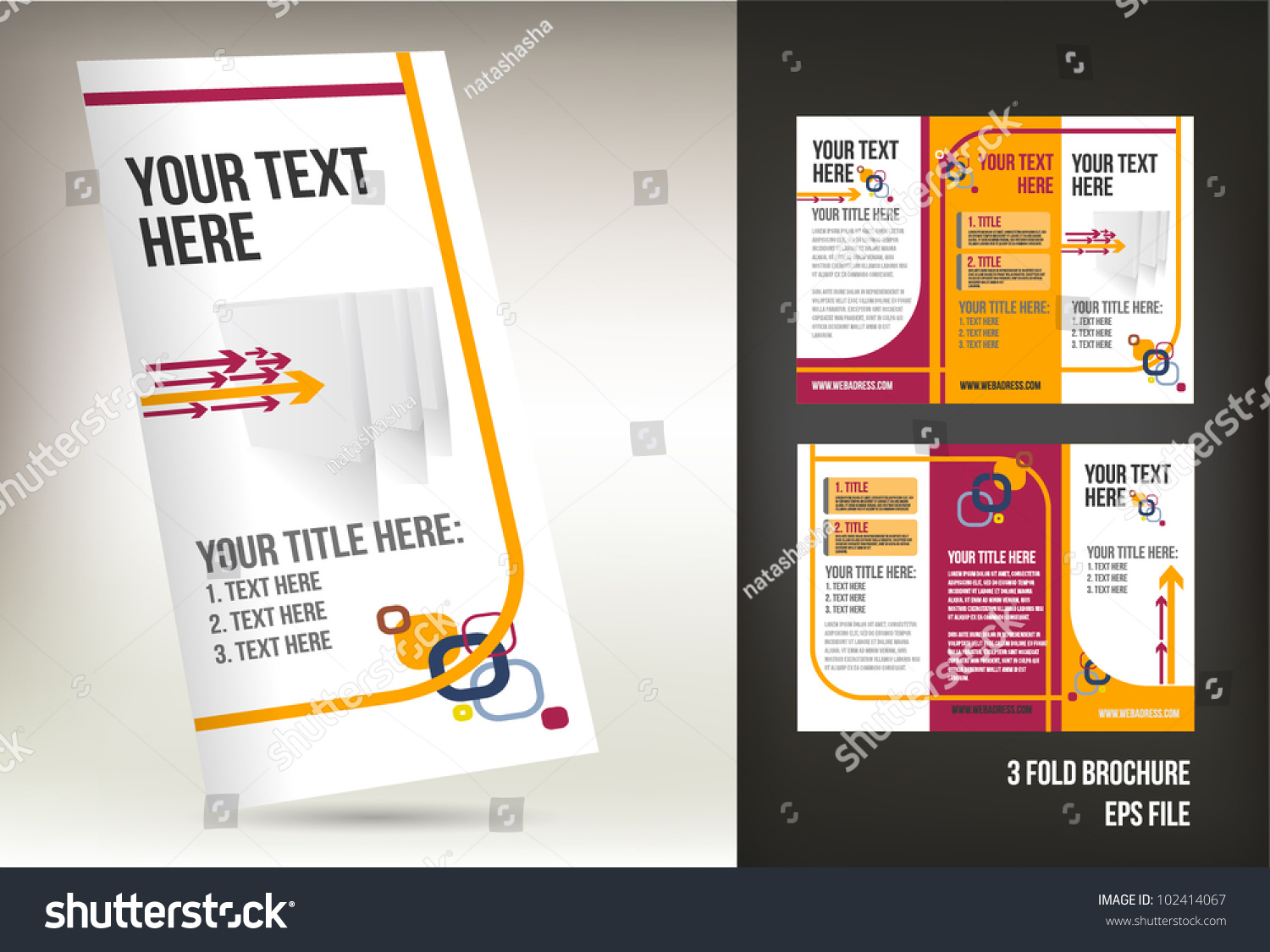 Colorful three fold brochure template stock vector for Colorful brochure templates