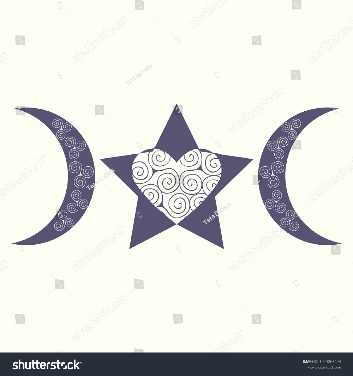 Modern Variant Spiral Triple Goddess Symbol Stock Vector Hd Royalty