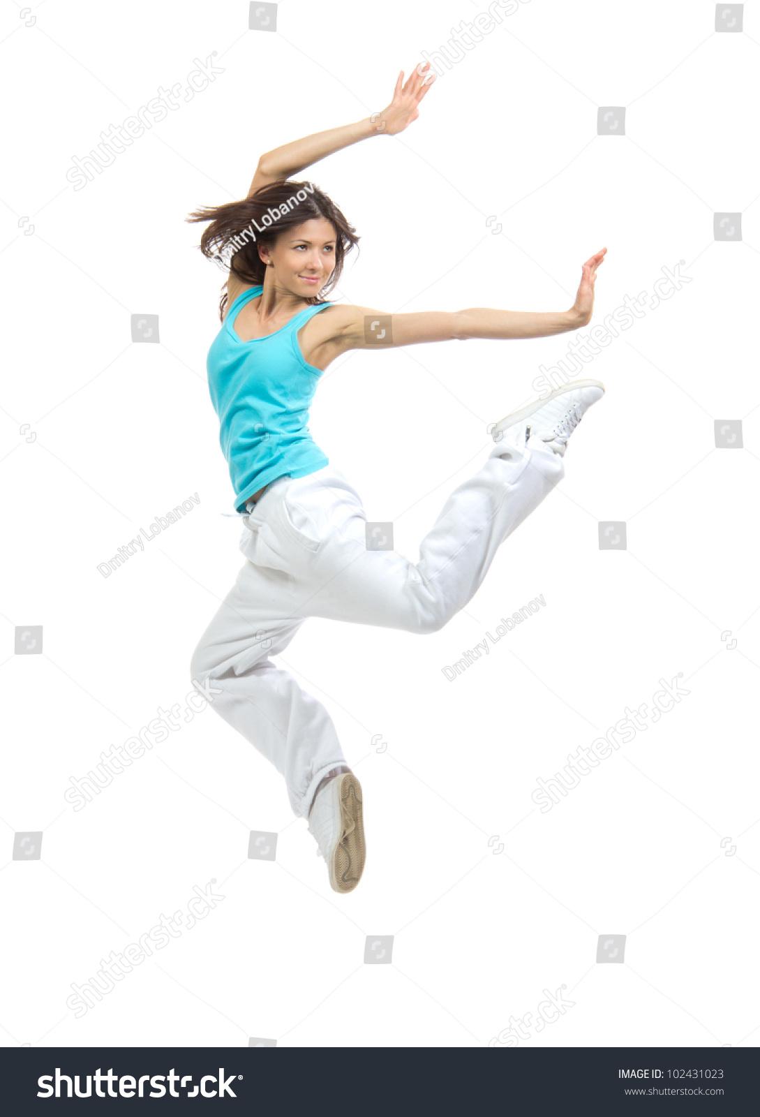 Blonde performer of gymnastics 6