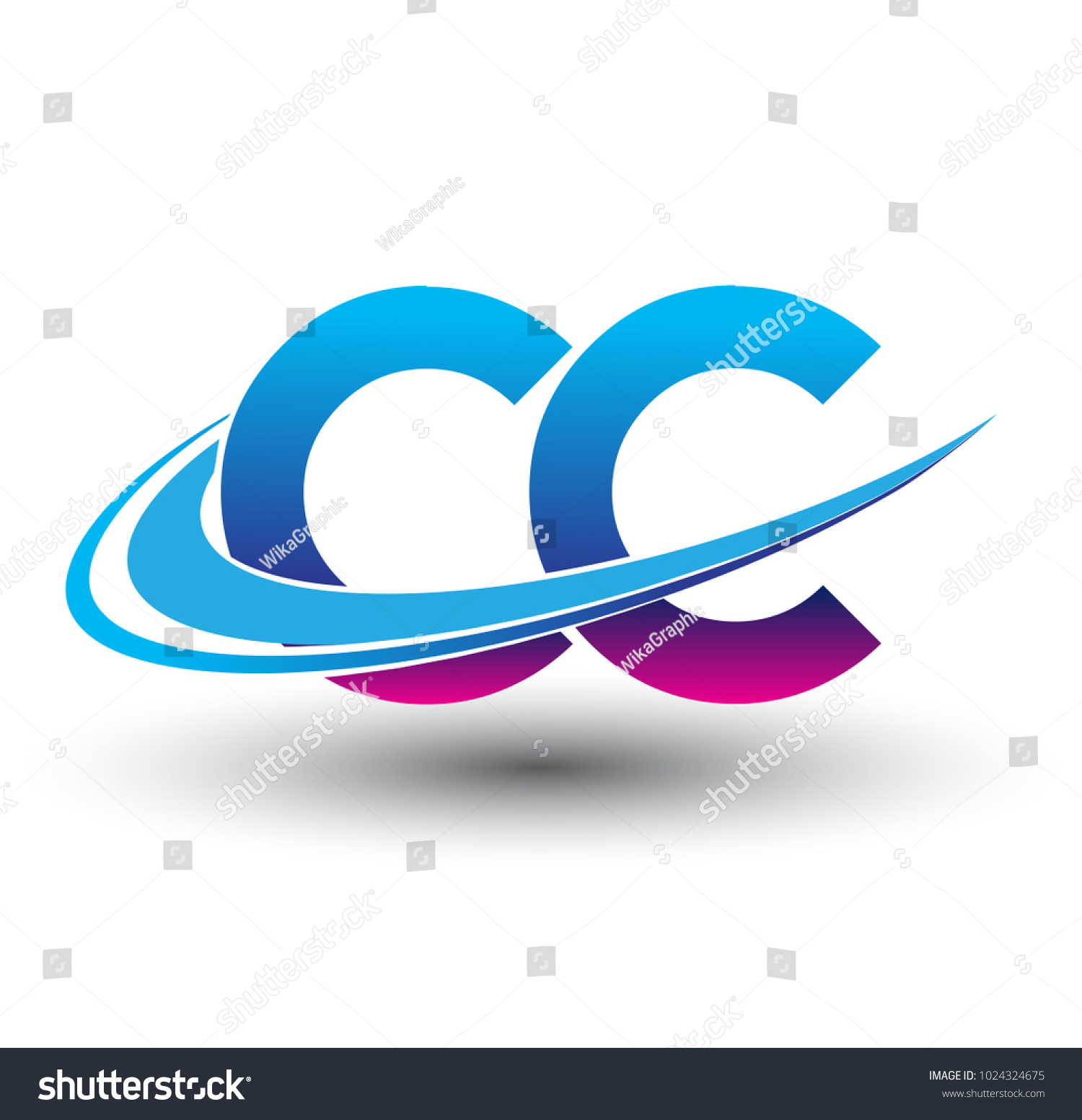 initial letter cc logotype company name stock vector 1024324675 rh shutterstock com
