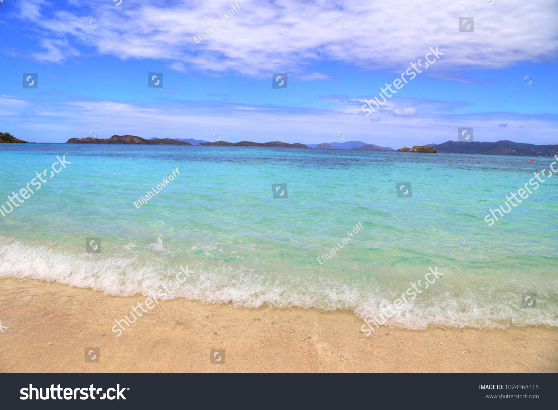 sapphire beach on st thomas island stock photo edit now 1024368415