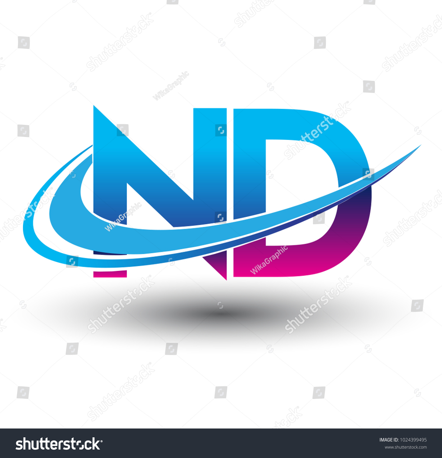 initial letter nd logotype company name stock vector 1024399495 rh shutterstock com