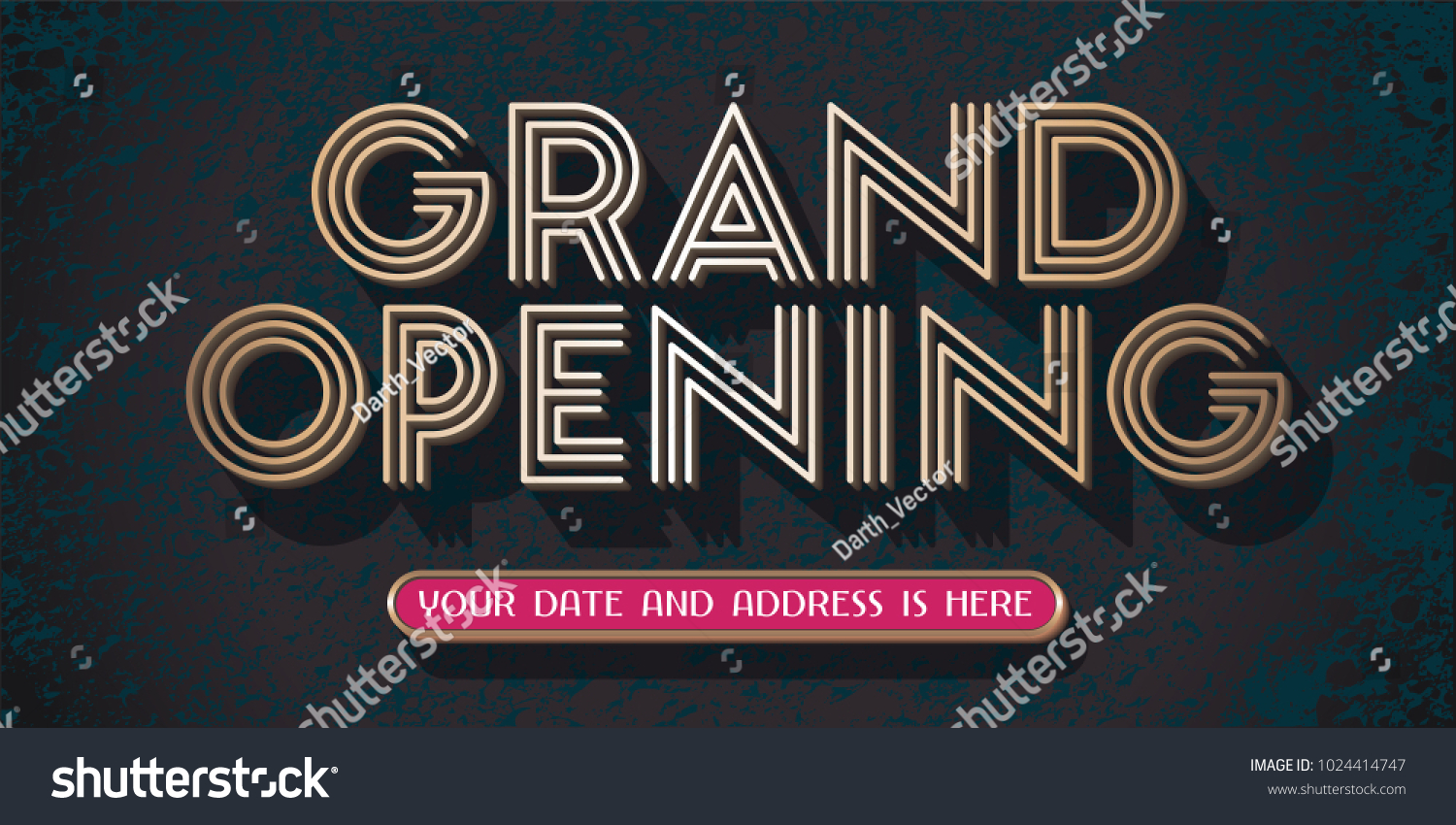 Grand Opening Vector Banner Illustration Template Stock Vector (2018 ...
