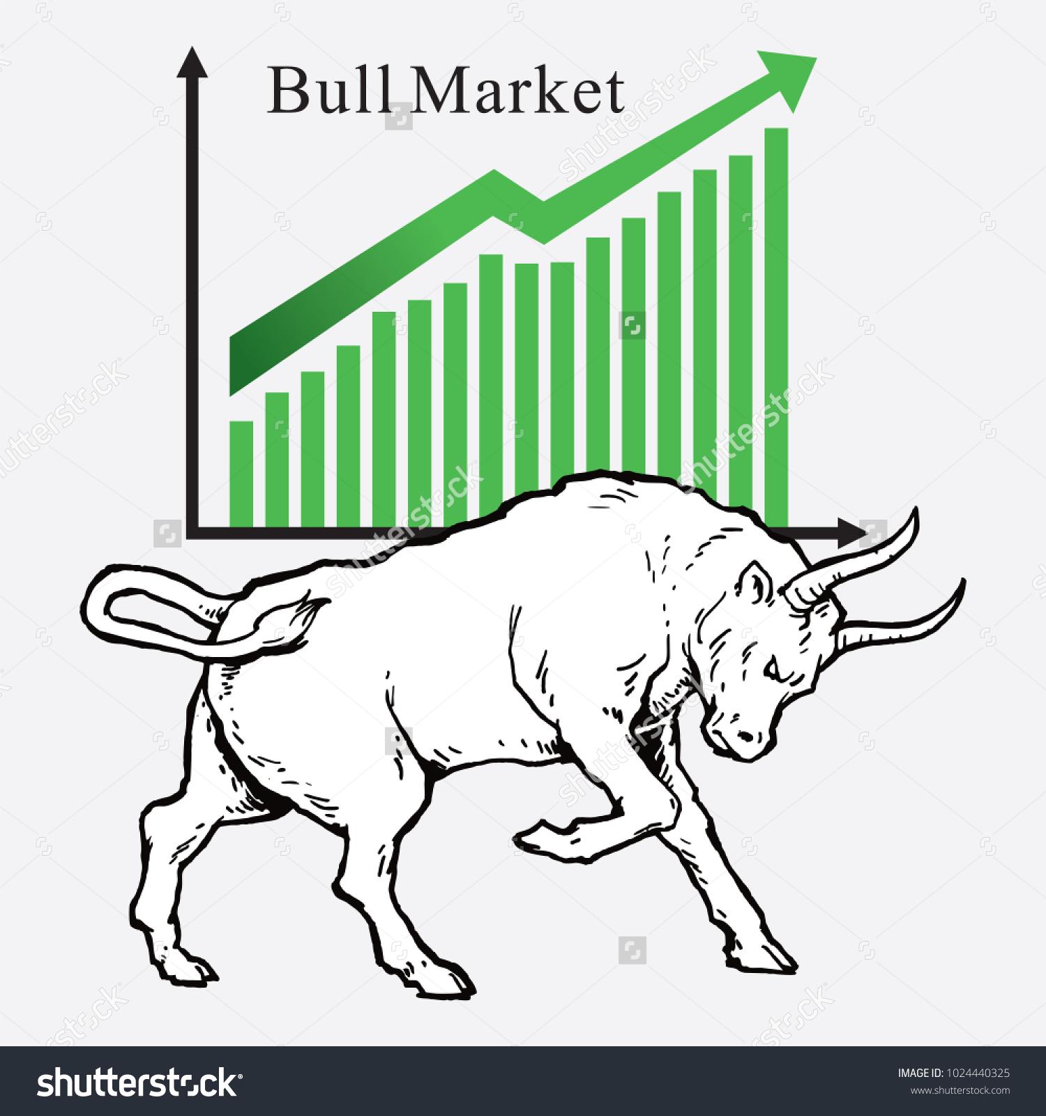 Bull Market Symbols Stock Market Trends Stock Vector Royalty Free