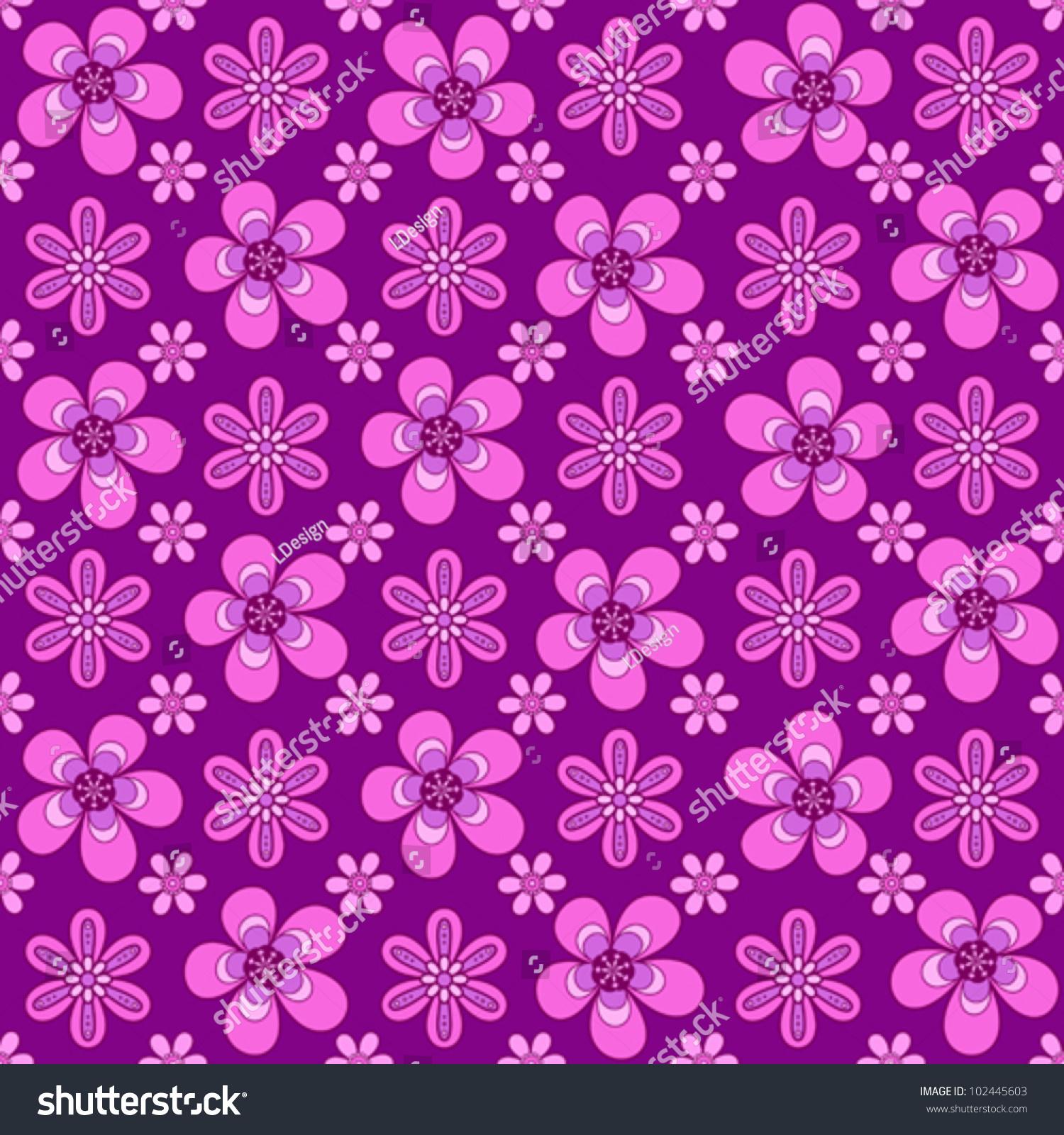Girly Flower Seamless Pattern Stock Vector 102445603 - Shutterstock