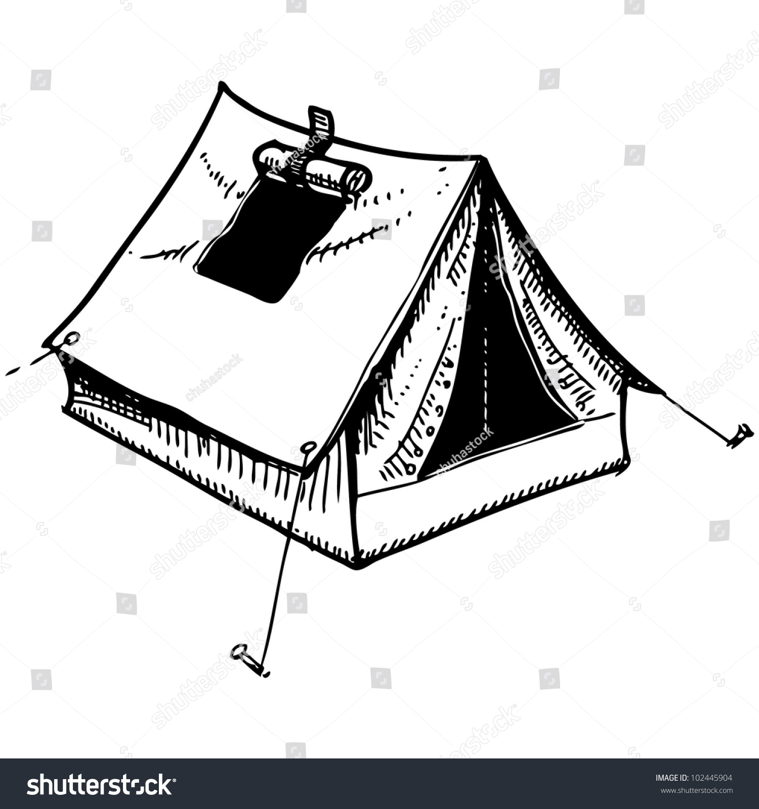 Camping Tent Drawing