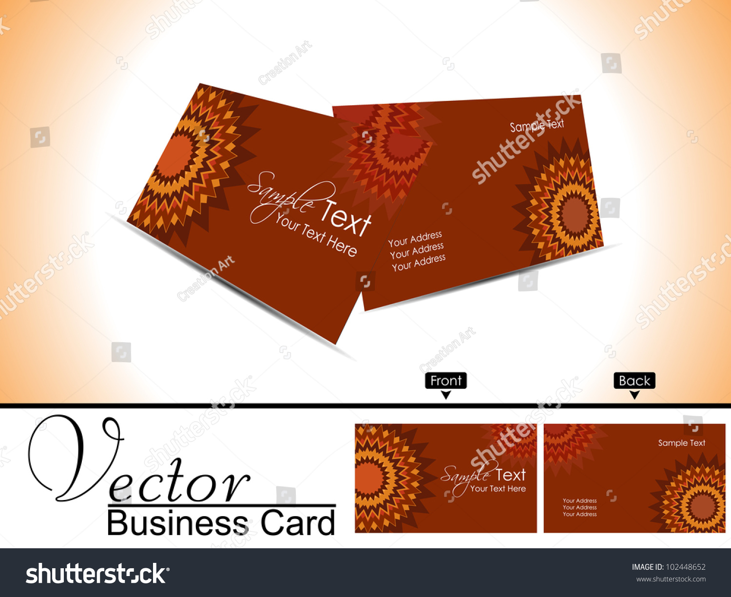Professional Business Card Visiting Card Set Stock Vector ...