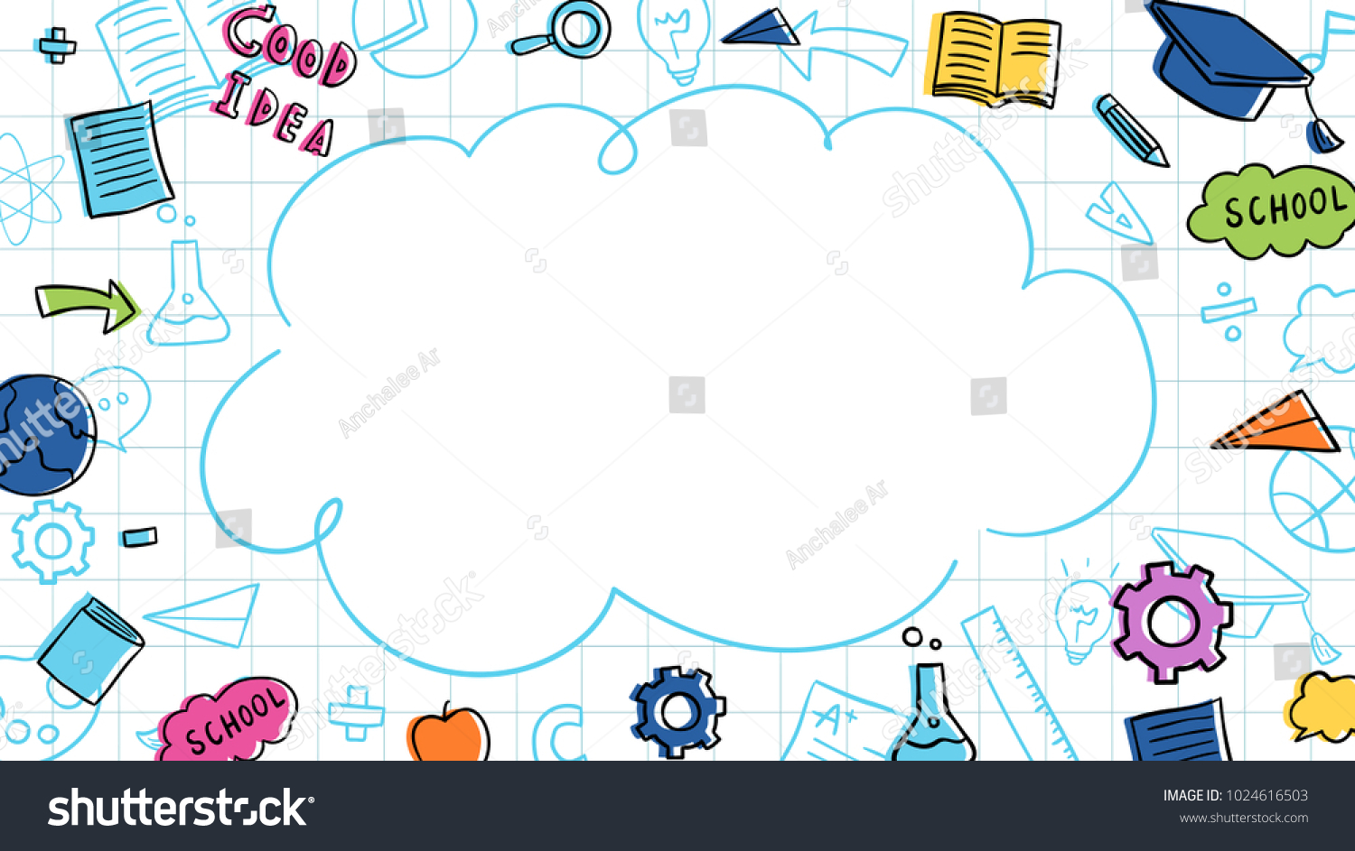 Vector Illustration Banner Background Design Colorful Stock Vector Royalty Free 1024616503