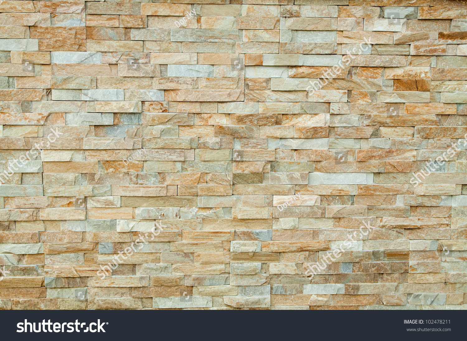 Modern Stone Brick Wall Background Stone Stock Photo