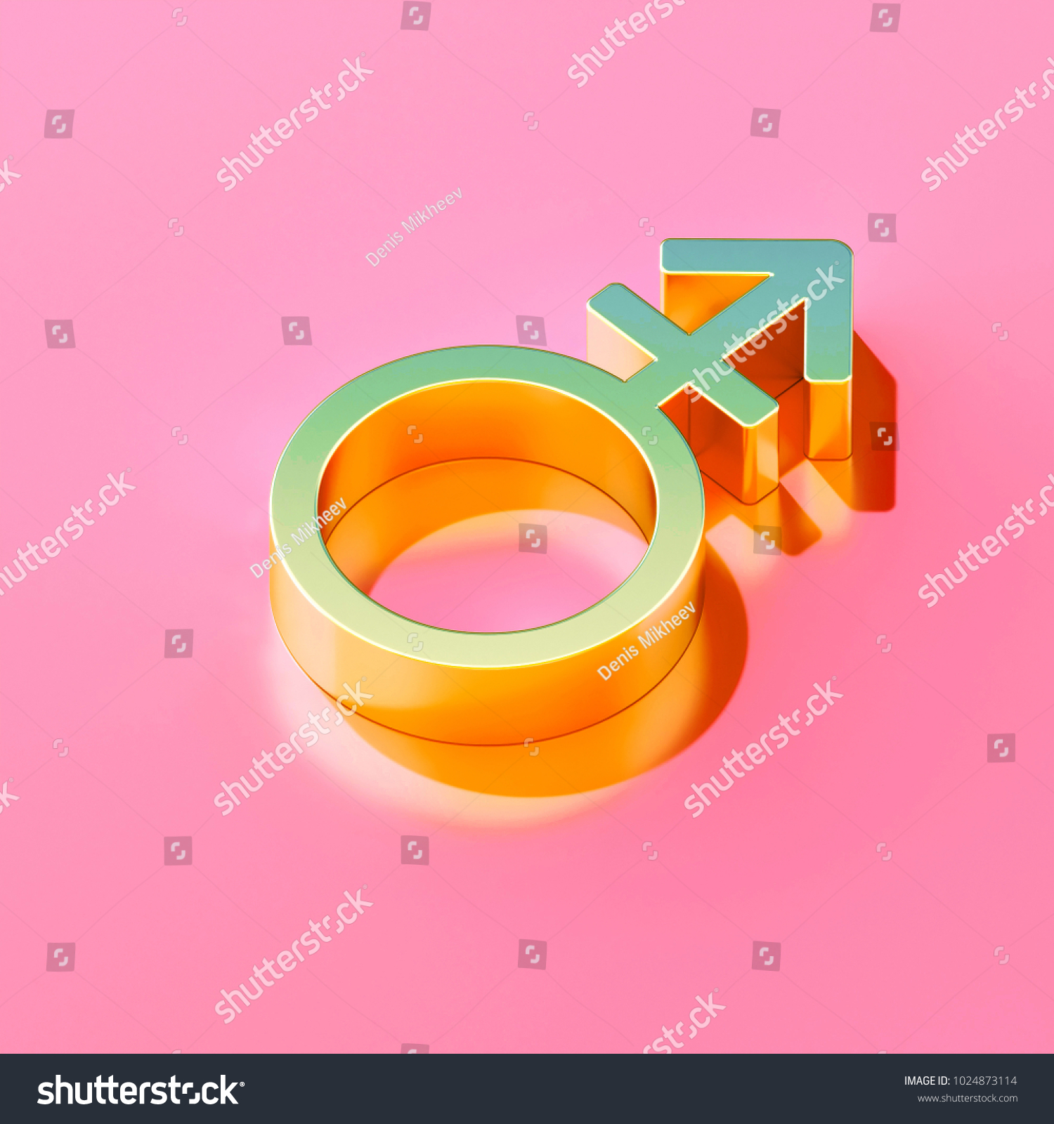 Icon gold gender mars stroke on stock illustration 1024873114 icon of gold gender mars stroke on the candy pink background 3d illustration of man buycottarizona Gallery