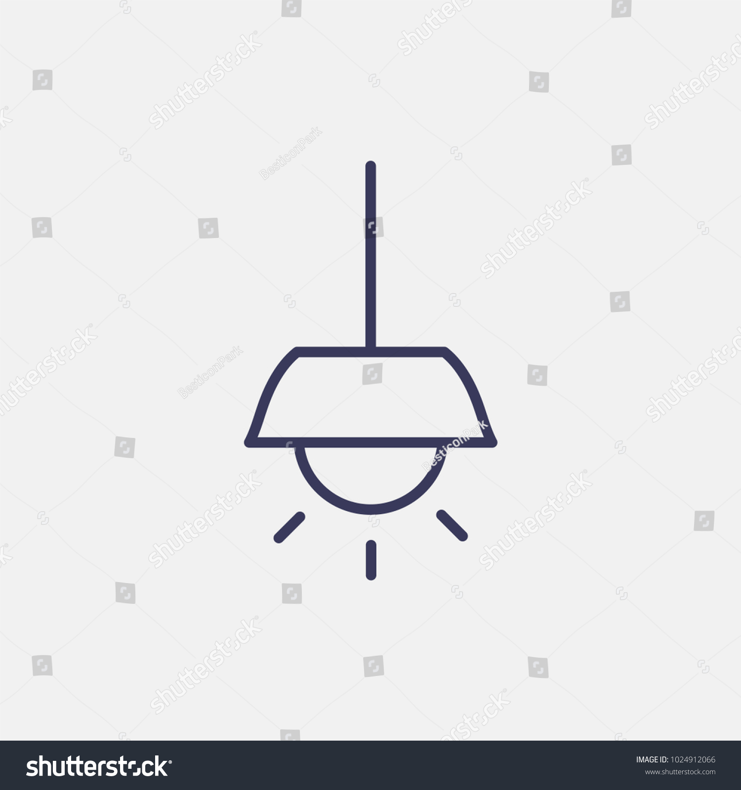 Outline chandeliers icon illustration isolated vector stock vector outline chandeliers icon illustration isolated vector sign symbol arubaitofo Images