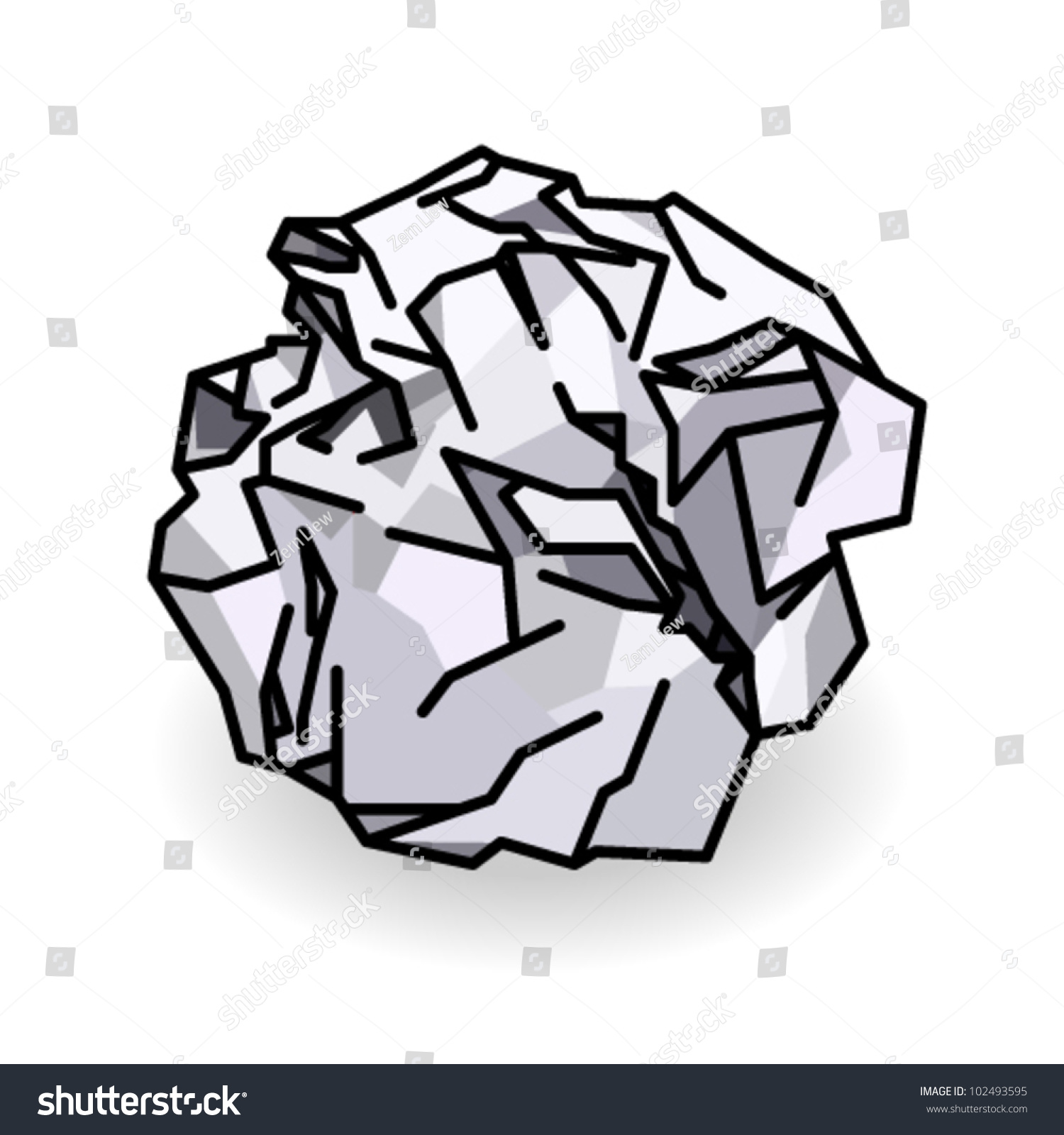 ball crumpled paper stock vector (royalty free) 102493595 - shutterstock