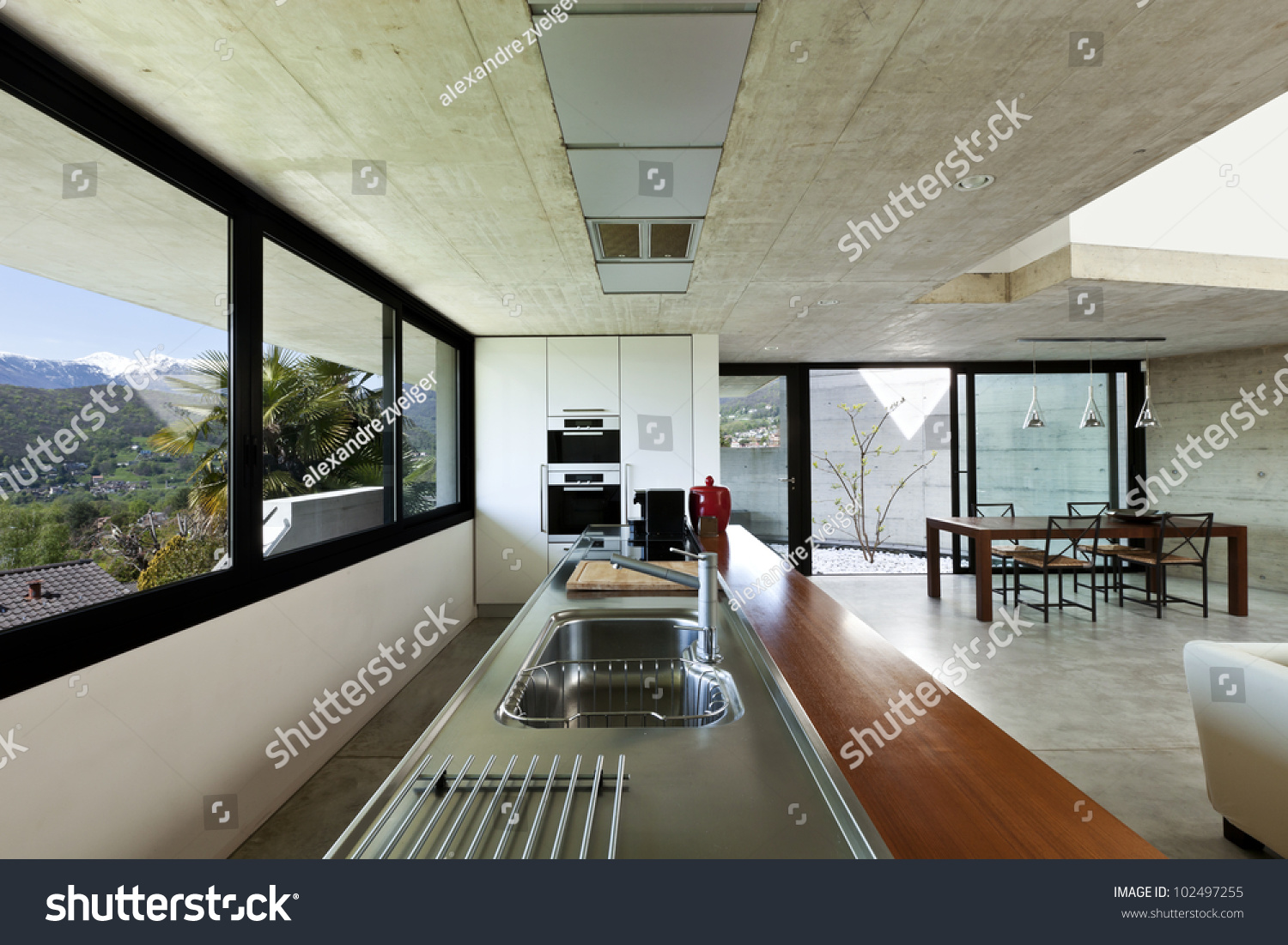 Beautiful modern house interior for Open space inside a building
