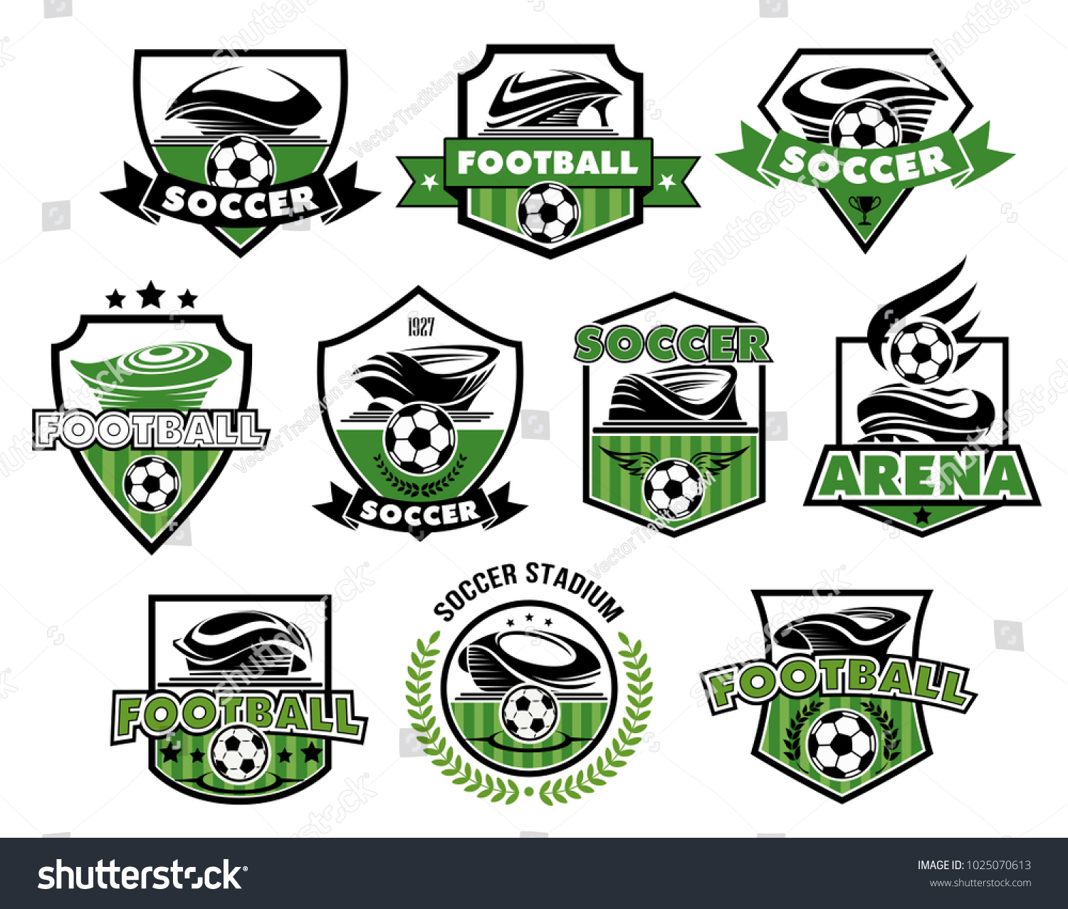 Soccer club football college league team stock vector 1025070613 soccer club or football college league team icons or badges templates vector heraldic shield symbols biocorpaavc Choice Image