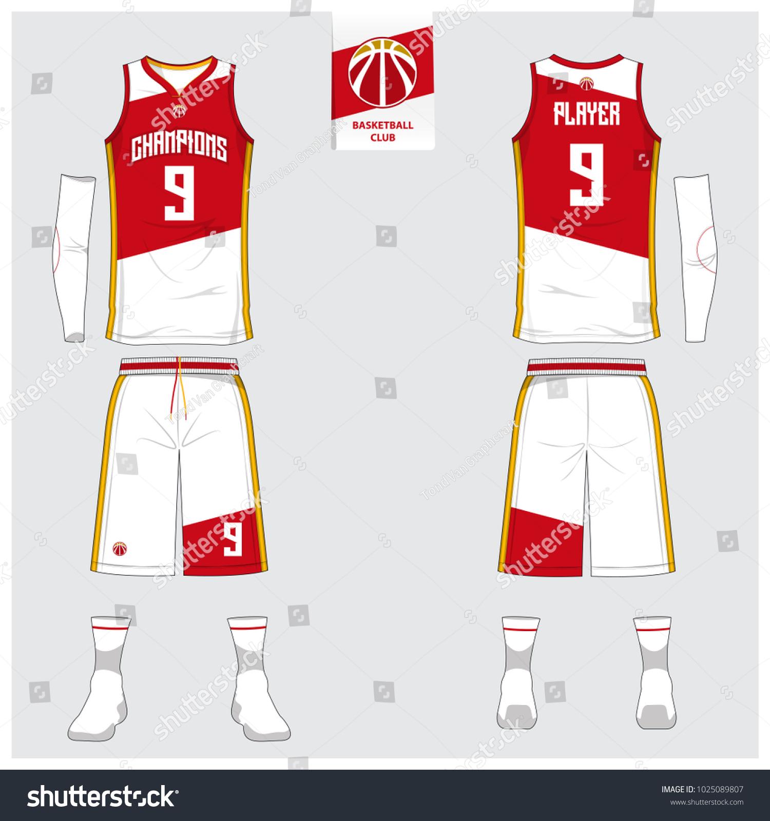 Basketball Uniform Sport Jersey Shorts Socks Stock-Vektorgrafik ...