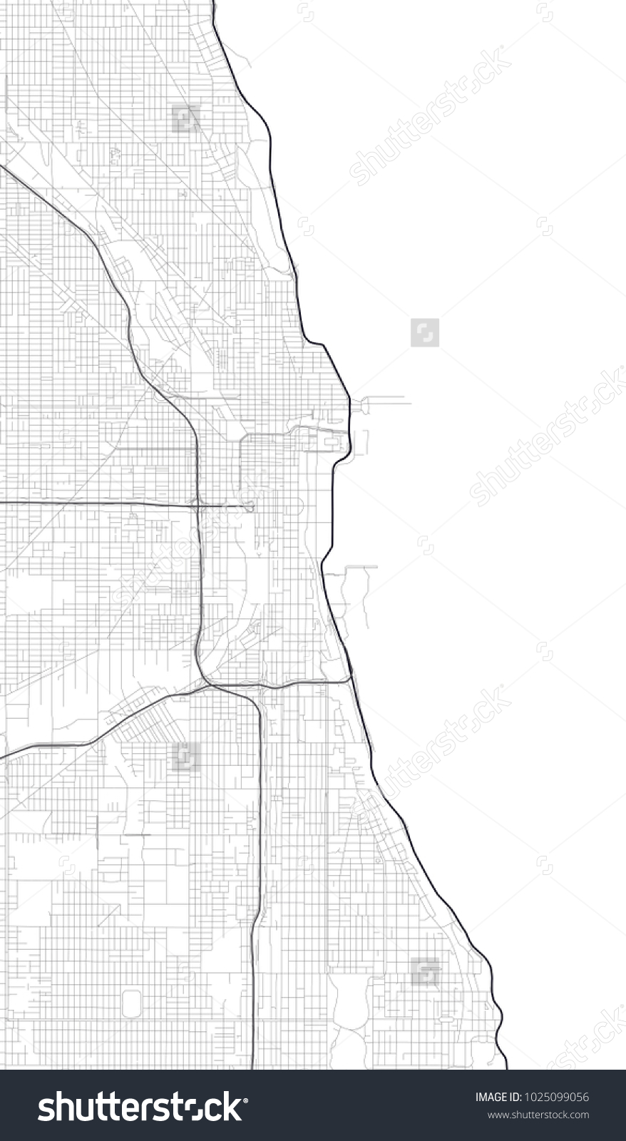 Chicago Map Vector Picture Ideas References Chicago