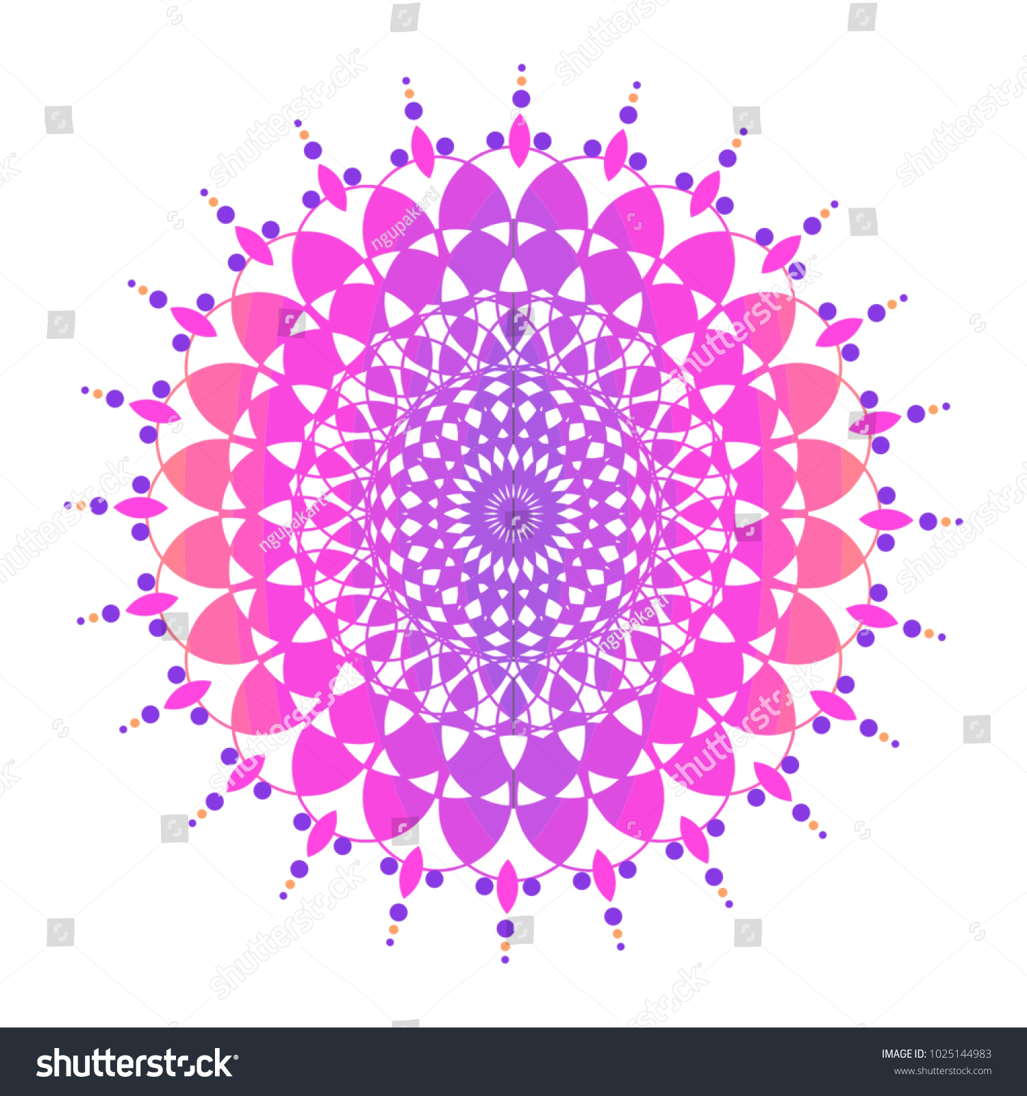 Colorful Mandala Sacred Ancient Geometric Culture Stock Vector