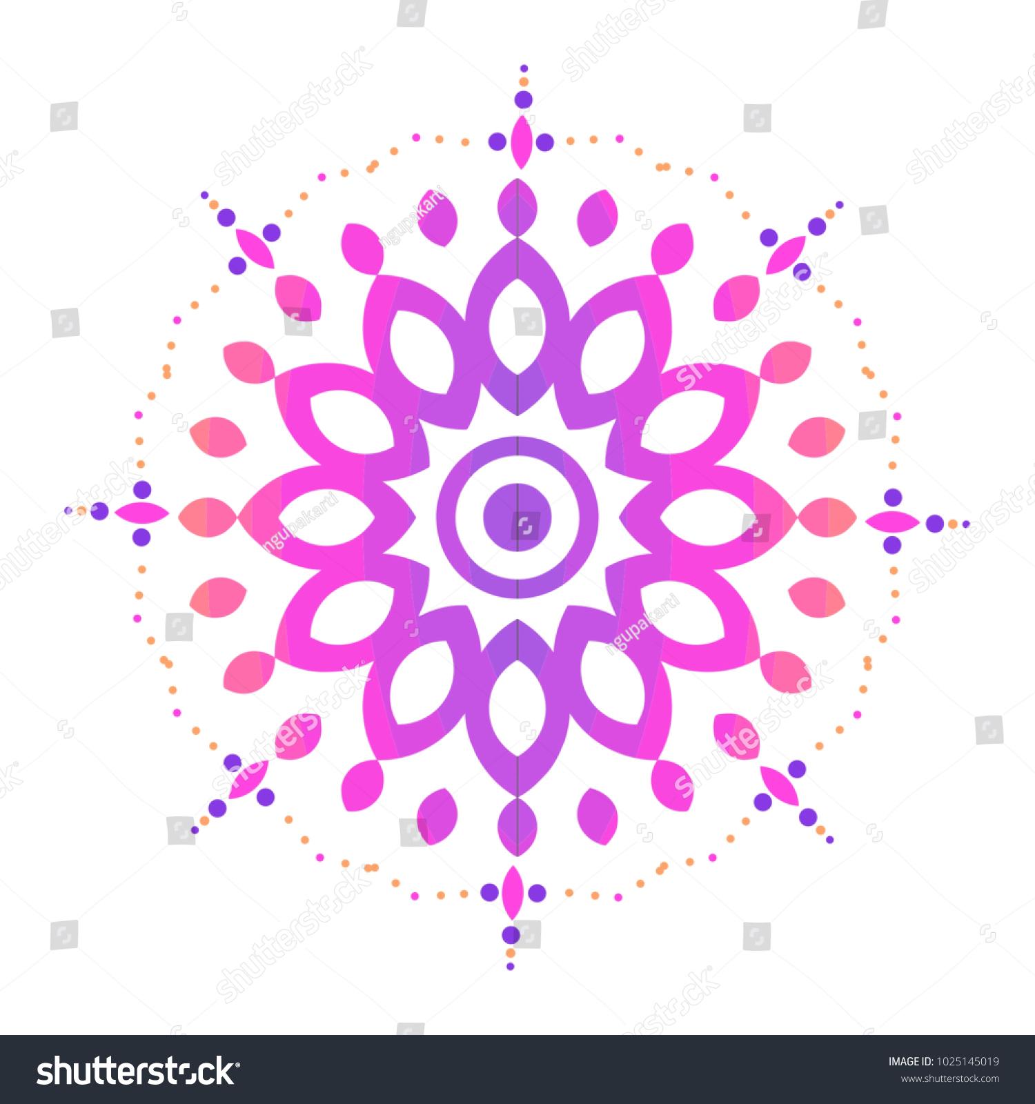 Colorful Mandala Sacred Ancient Geometric Culture Stock Vector
