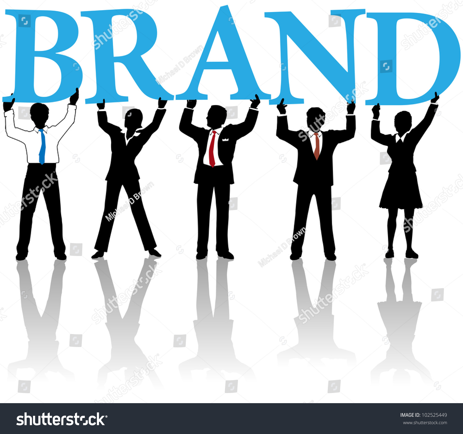 Marketing people team hold letters cooperate stock vector for Marketing to builders