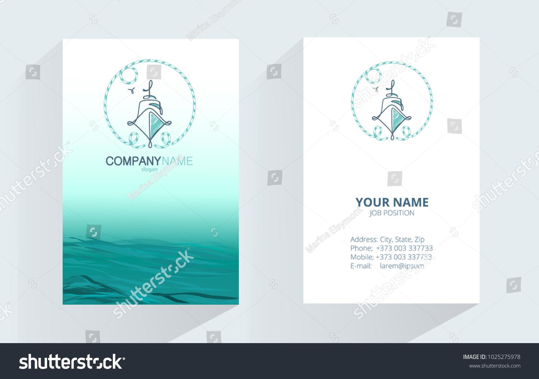 Marine Abstract Logo Design Corporate Business Stock Photo (Photo ...