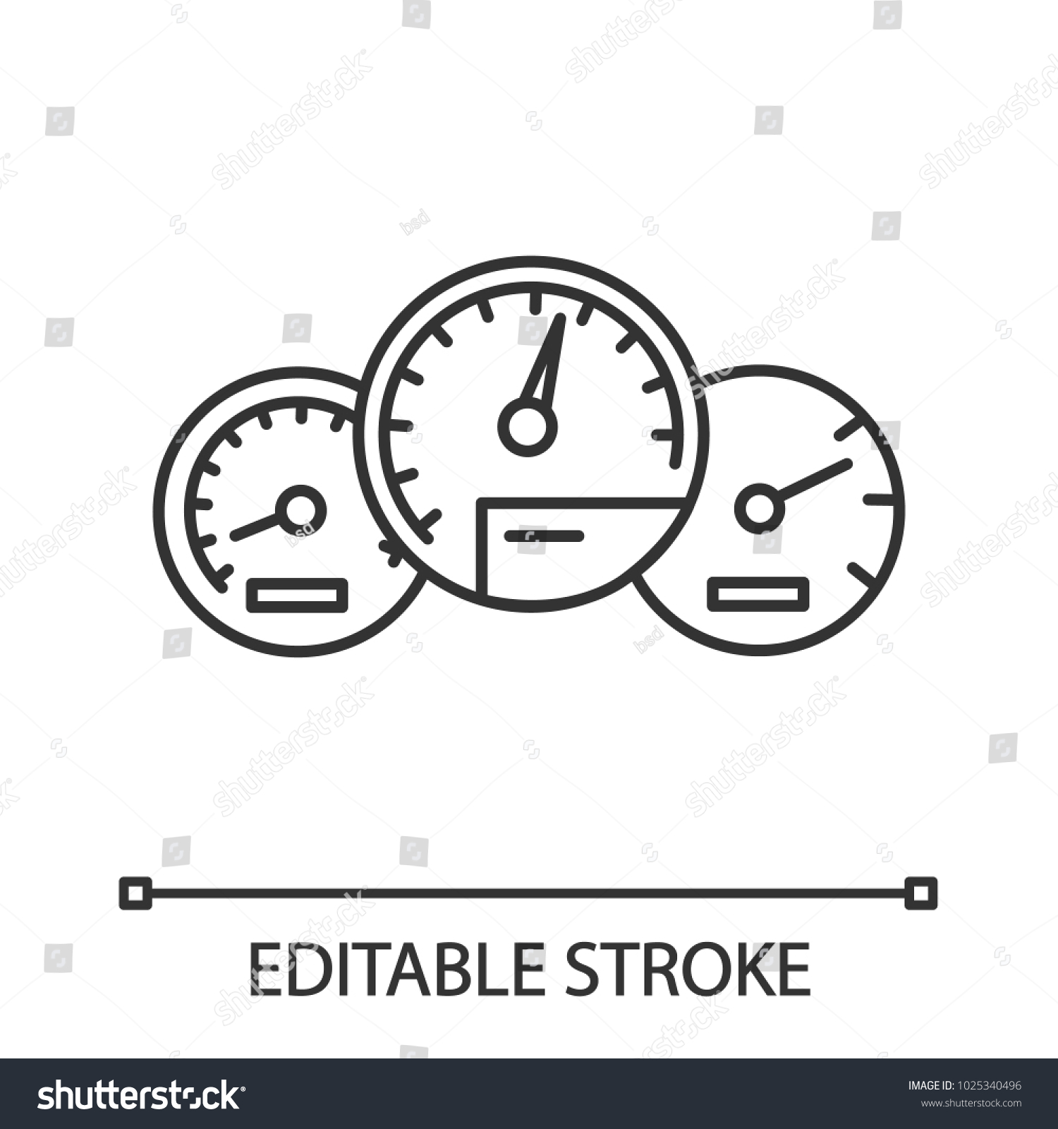 Dashboard Linear Icon Thin Line Illustration Stock Vector Royalty
