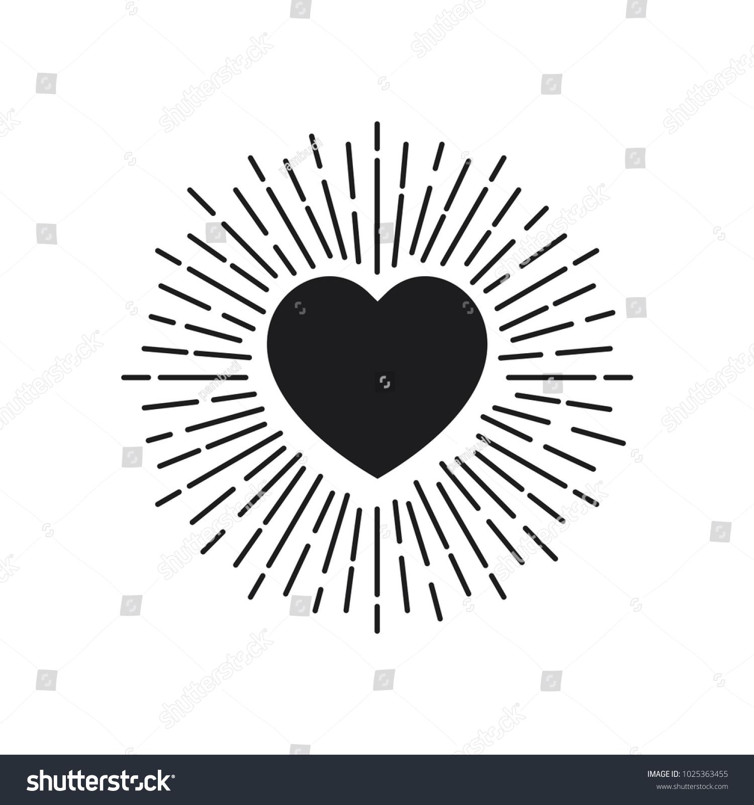 Love symbol heart icon trendy flat stock vector 1025363455 love symbol heart icon in trendy flat style buycottarizona