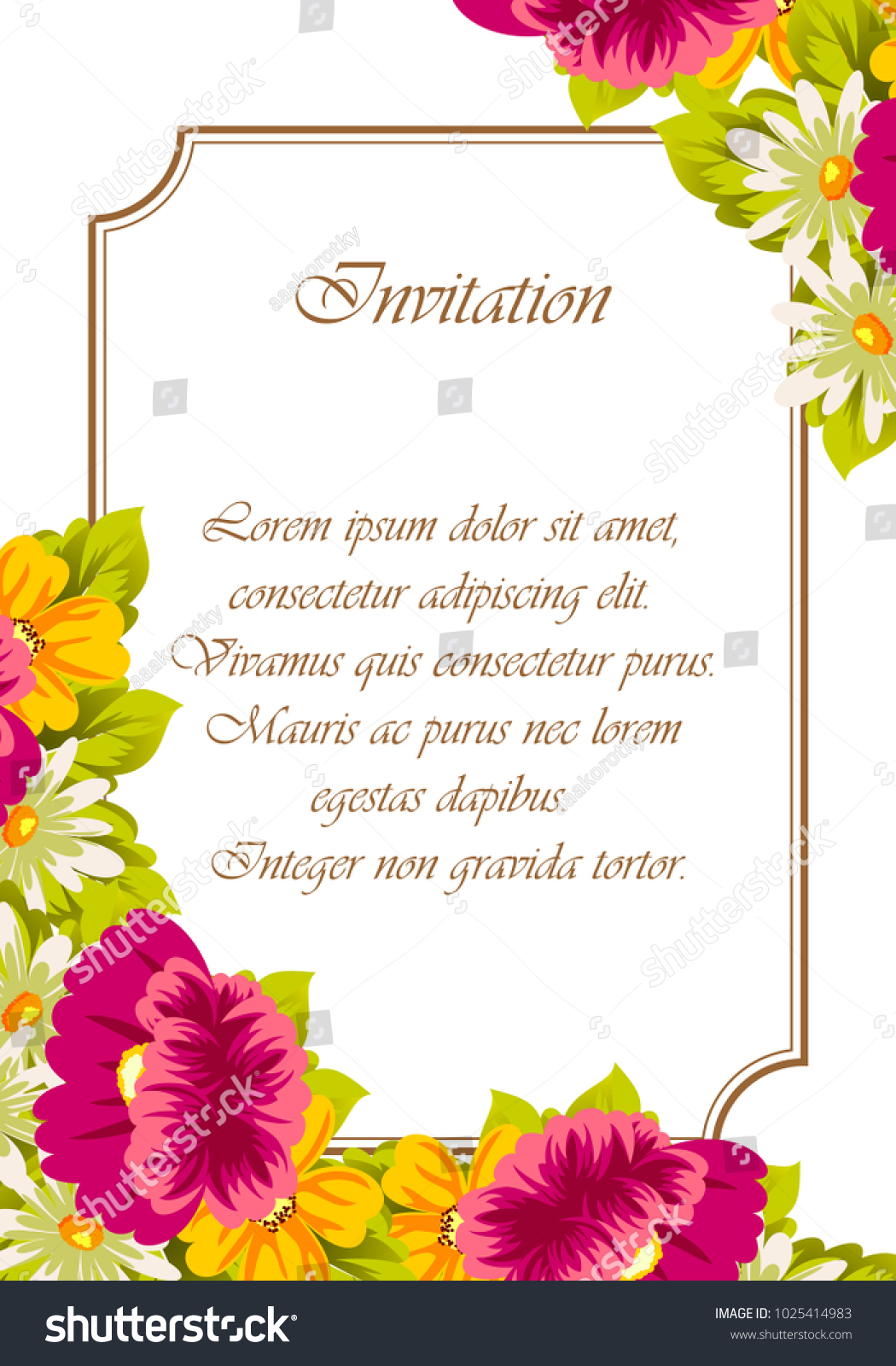 Frame flowers card designs greeting cards stock vector 1025414983 frame of flowers for card designs greeting cards birthday invitations valentines day m4hsunfo