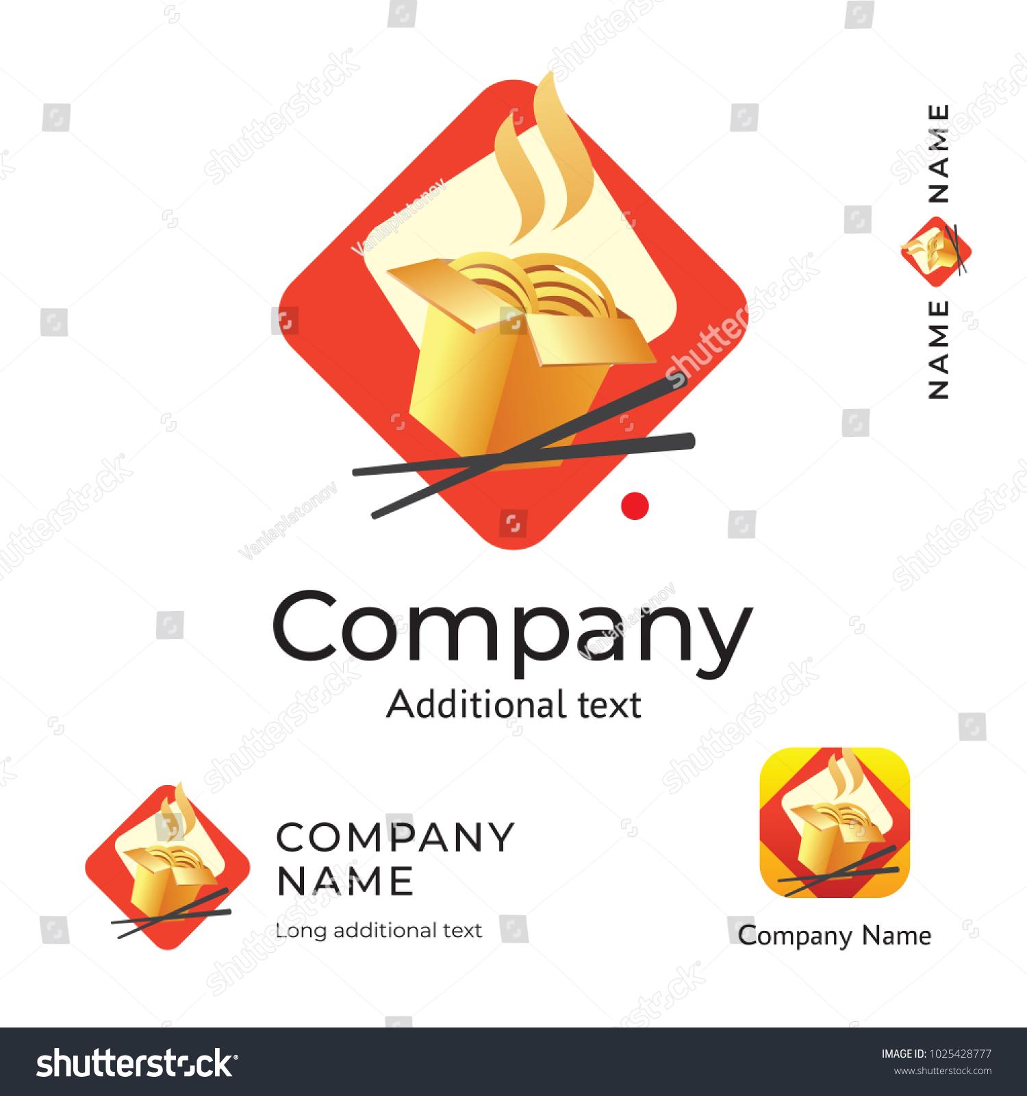 Vector De Stock Libre De Regalias Sobre Asian Traditional Food Logo Modern Identity1025428777