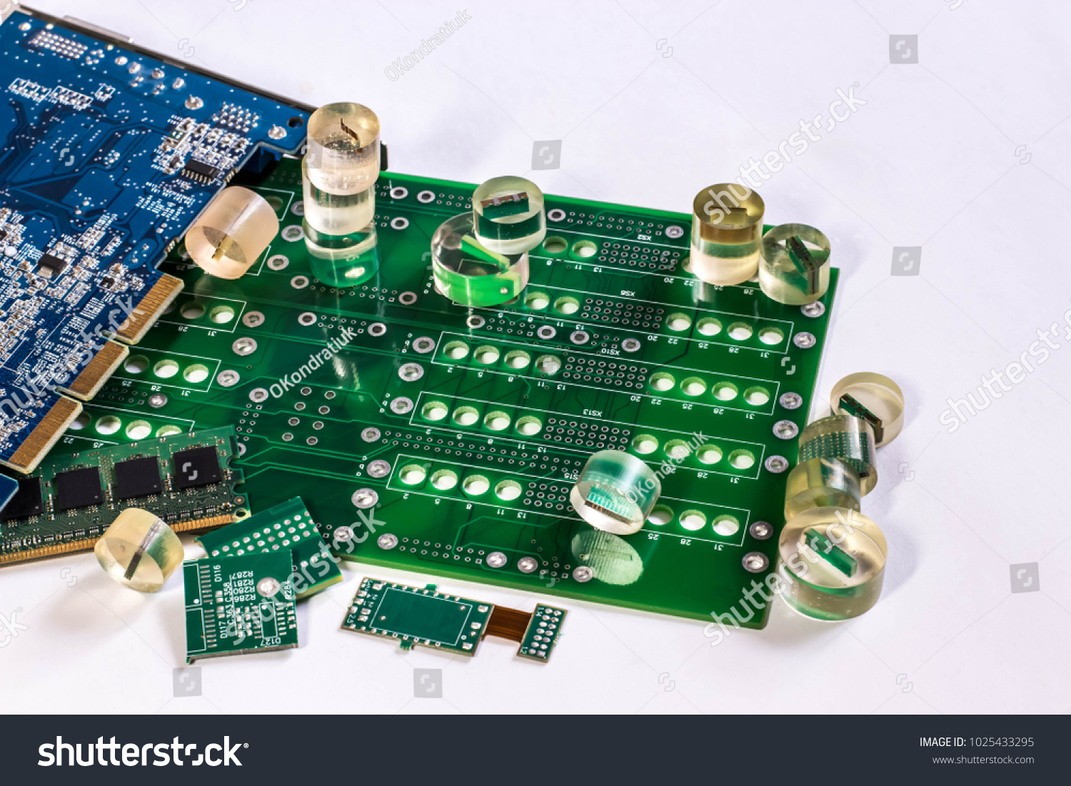 Printed Circuit Boards Pcb Samples Epoxy Stock Photo Edit Now Stockfoto Board Used In Industrial Electronic And Resin