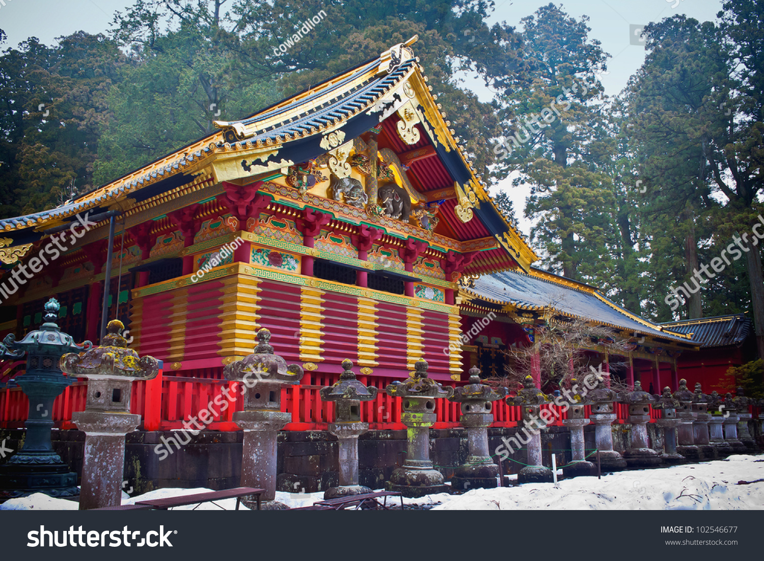 Toshogu Shrine In Winter, Nikko, Japan Stock Photo 102546677 : Shutterstock