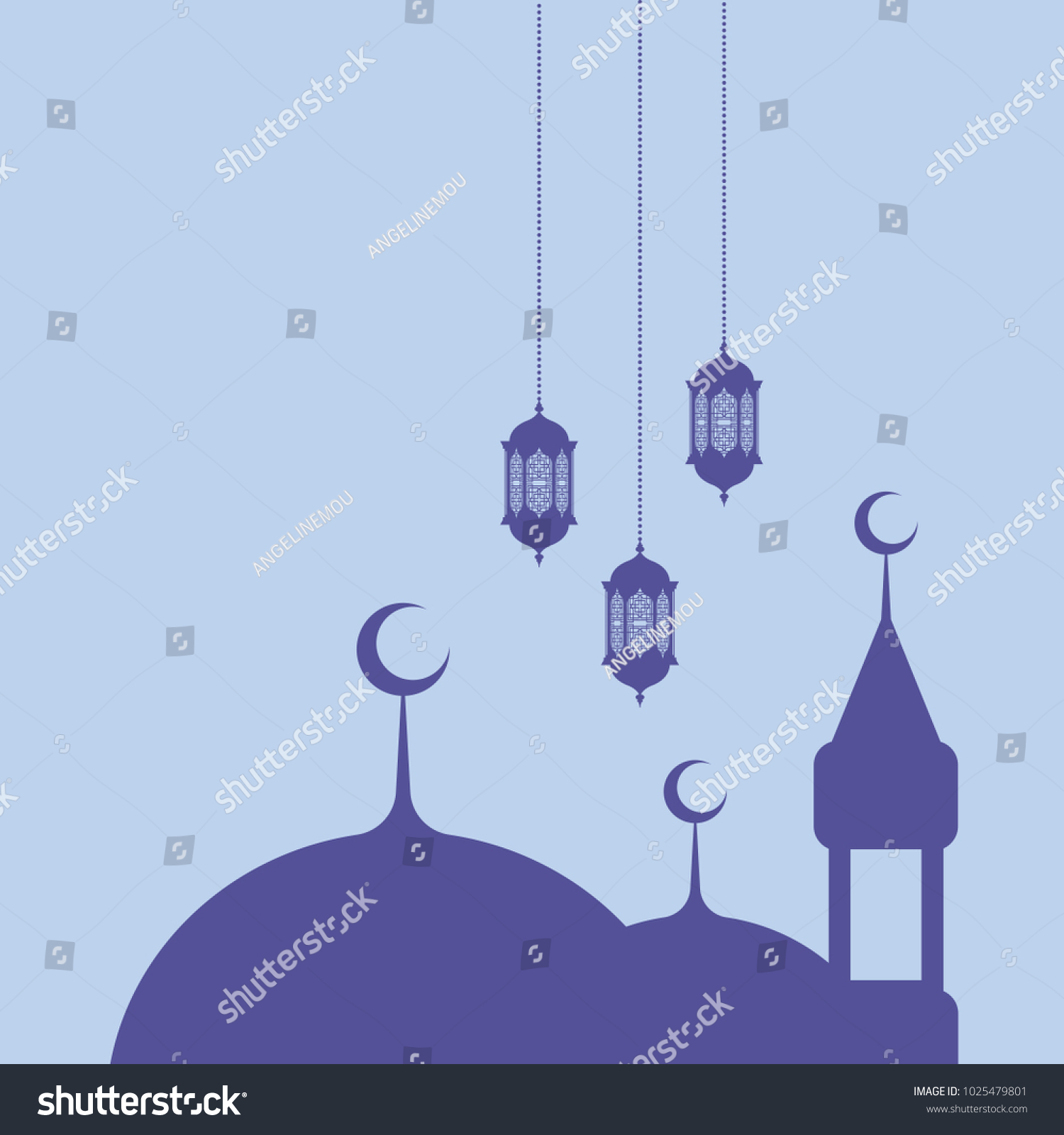 Ramadan Greetings On Blue Background Ez Canvas