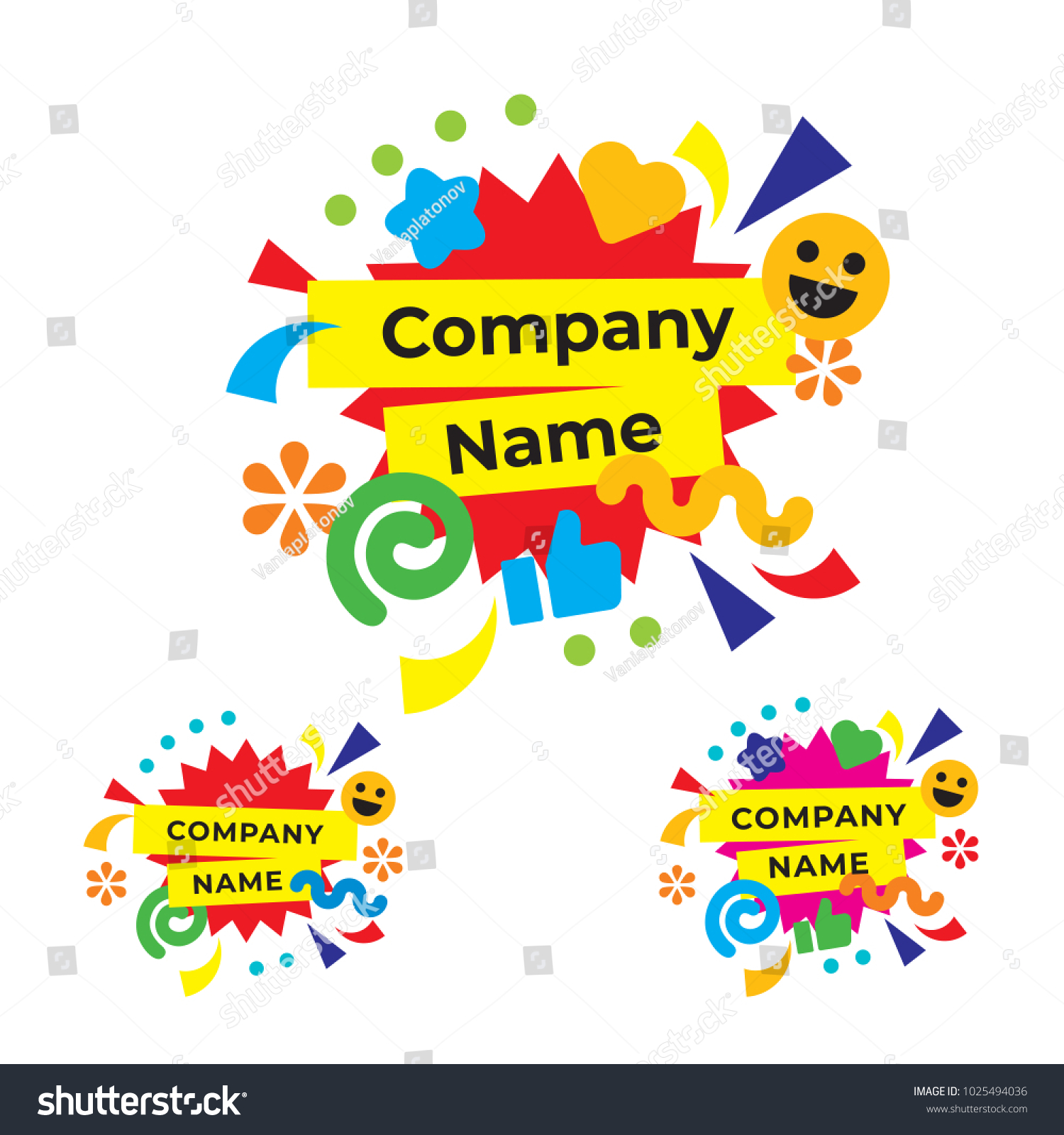 funny happy party logo modern holiday stock vector royalty free 1025494036 https www shutterstock com image vector funny happy party logo modern holiday 1025494036