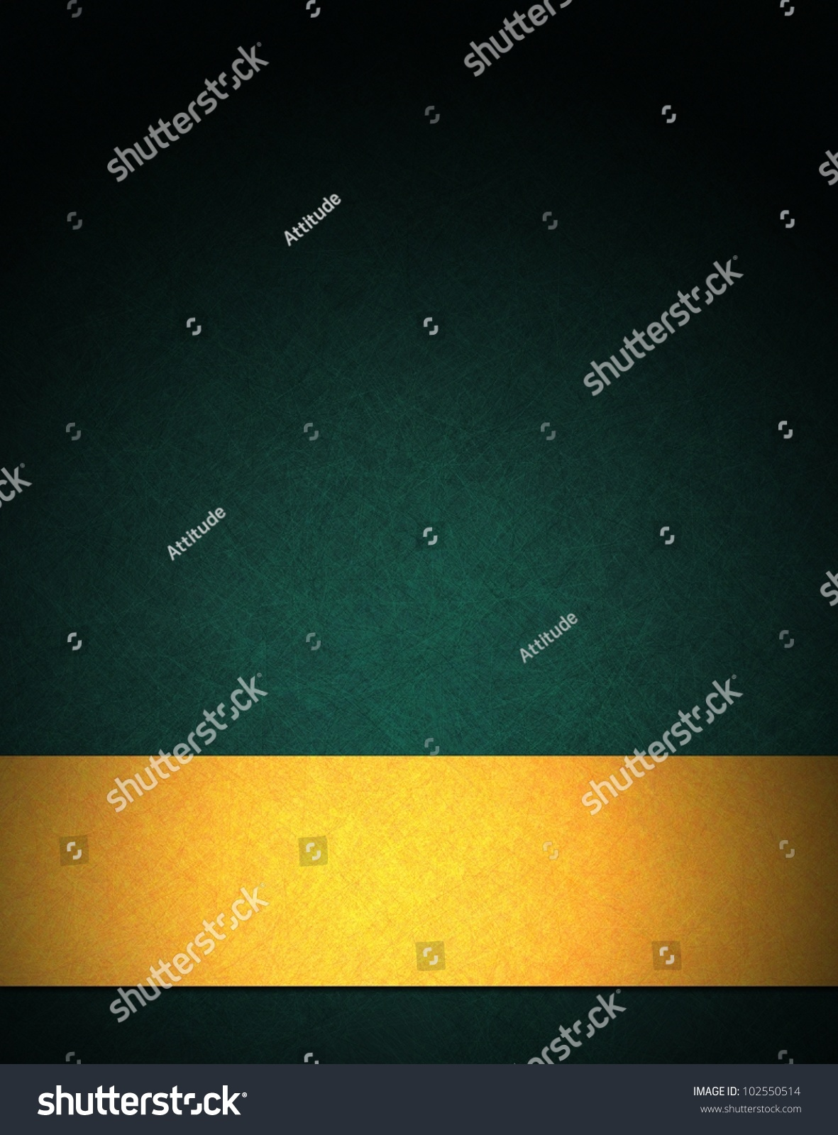 Abstract Green Background Luxurious Gold Ribbon Stock ...