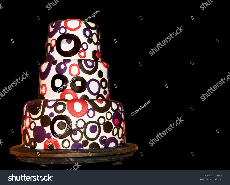 Retro Wedding Cake On Black