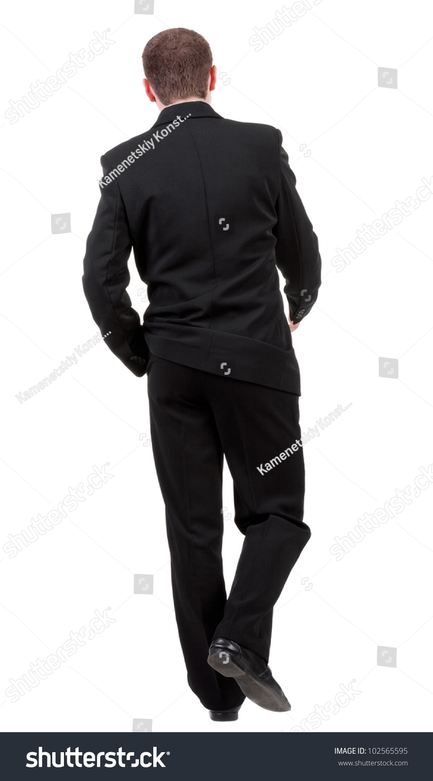 Back View Going Business Man Walking Stock Photo 102565595 ...