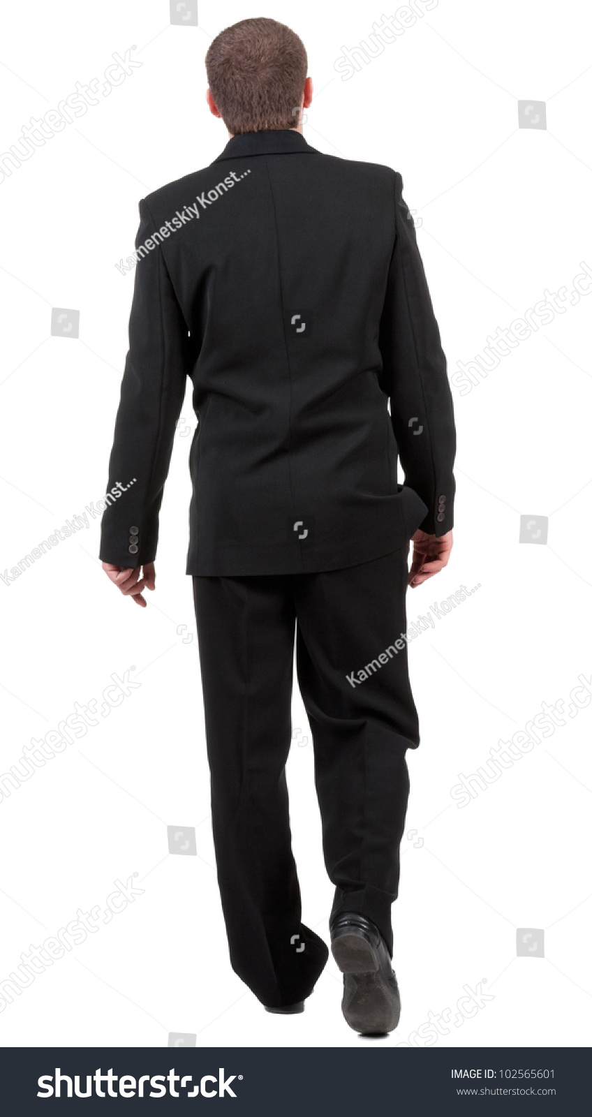 Back View Walking Business Man Going Stock Photo 102565601 ...