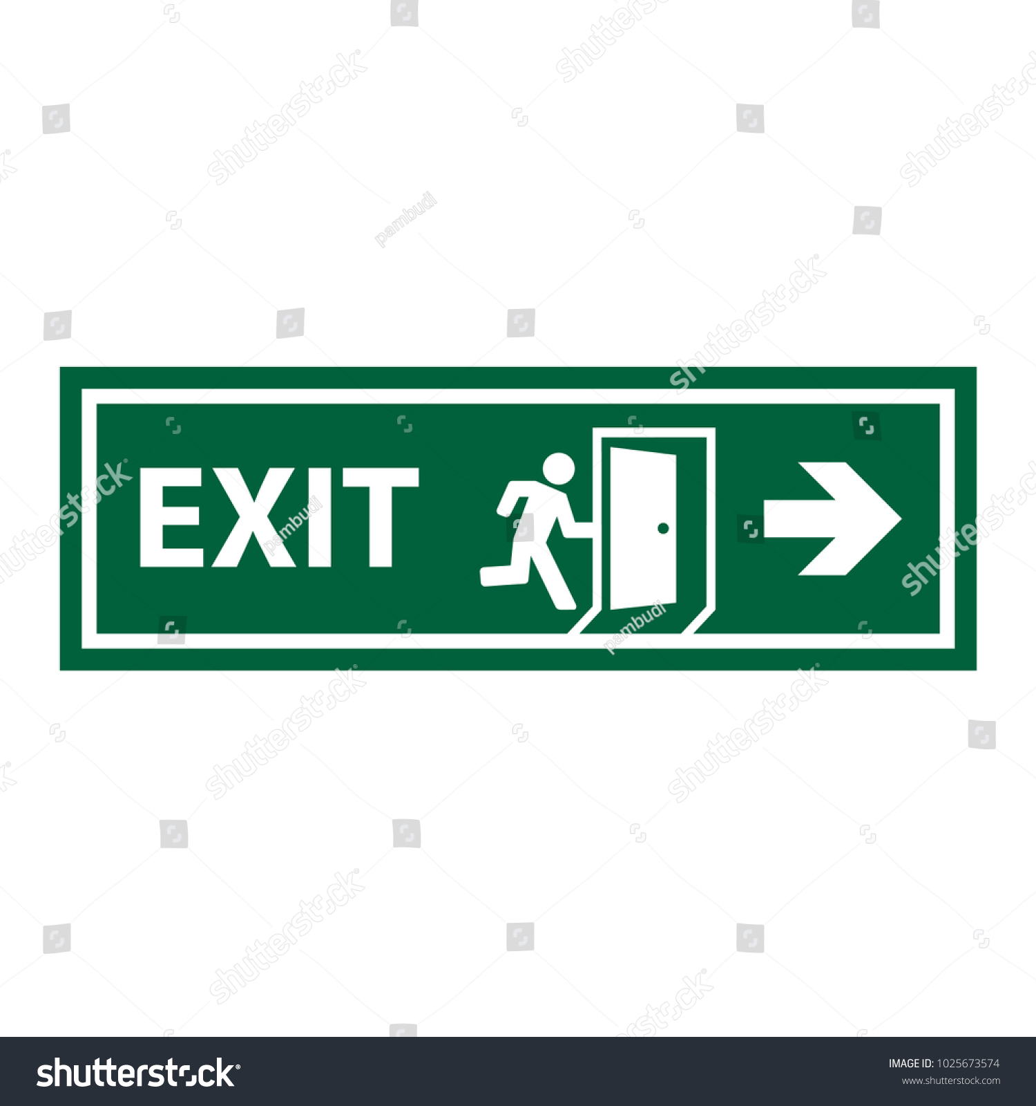 Exit sign symbol trendy flat style stock vector 1025673574 exit sign symbol in trendy flat style buycottarizona Images