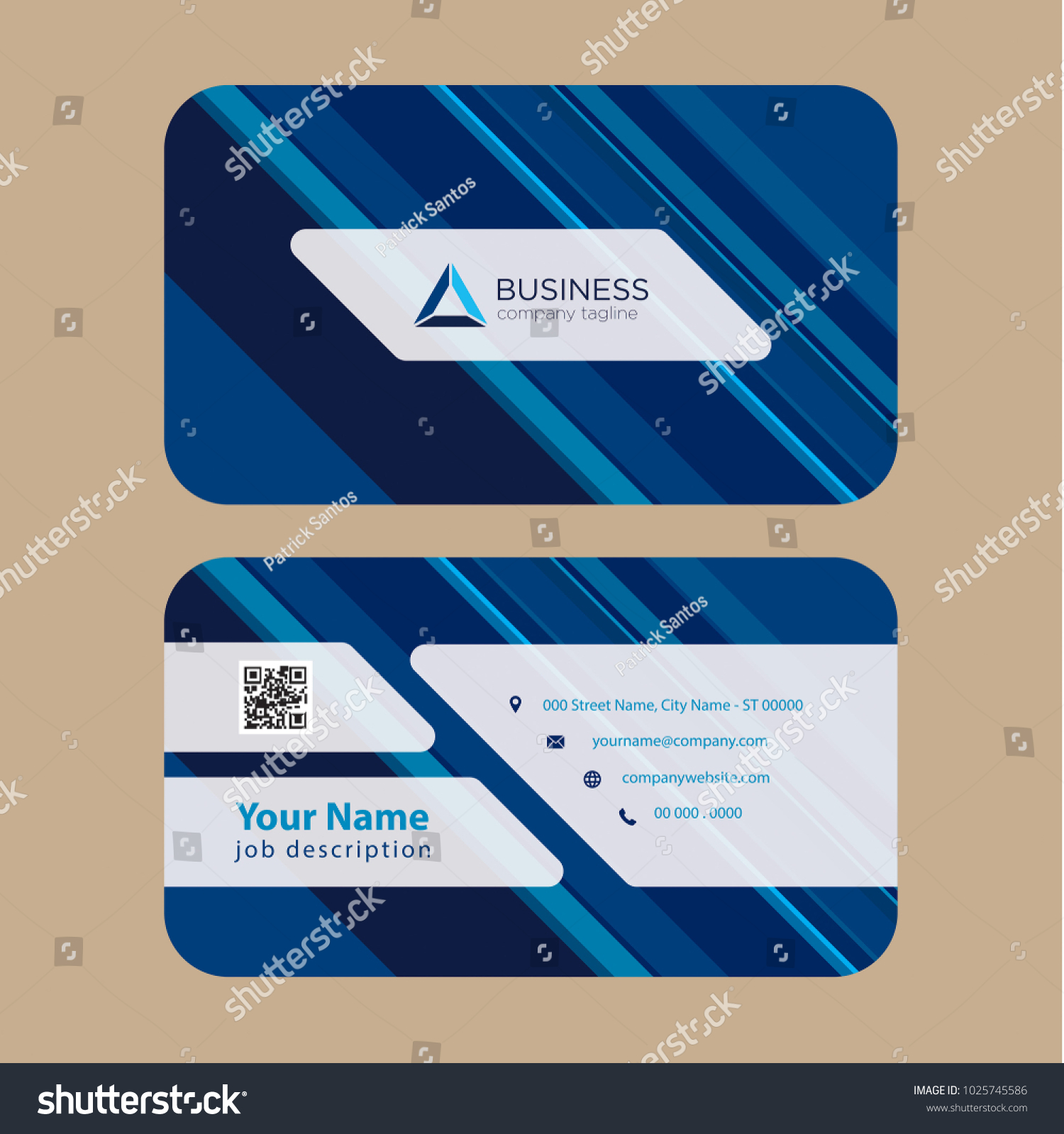 Print Ready Professional Business Card Multi Stock Vector 1025745586 ...