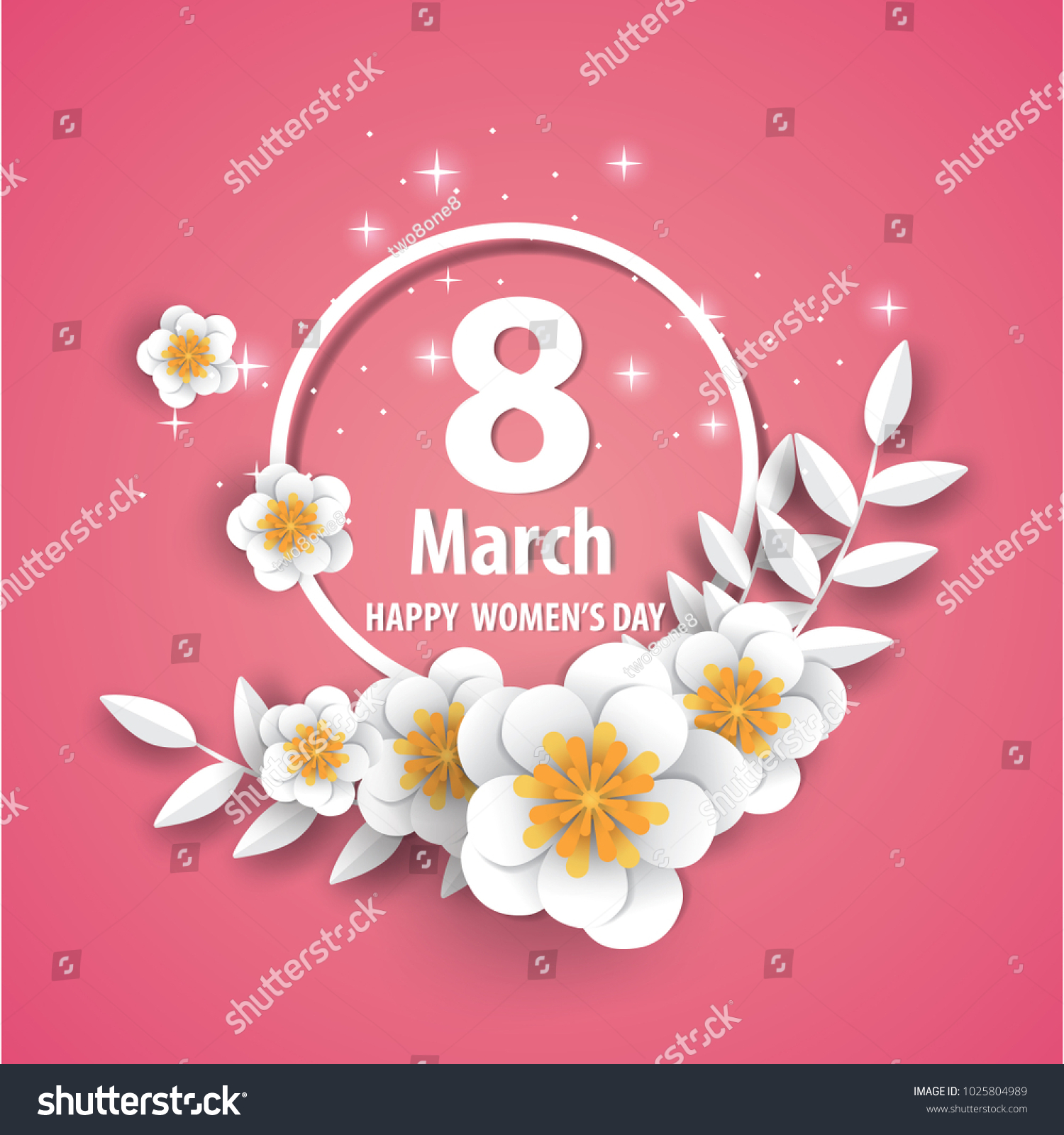 Happy Mothers Day Floral Greeting Card Origami Stock Vector Royalty