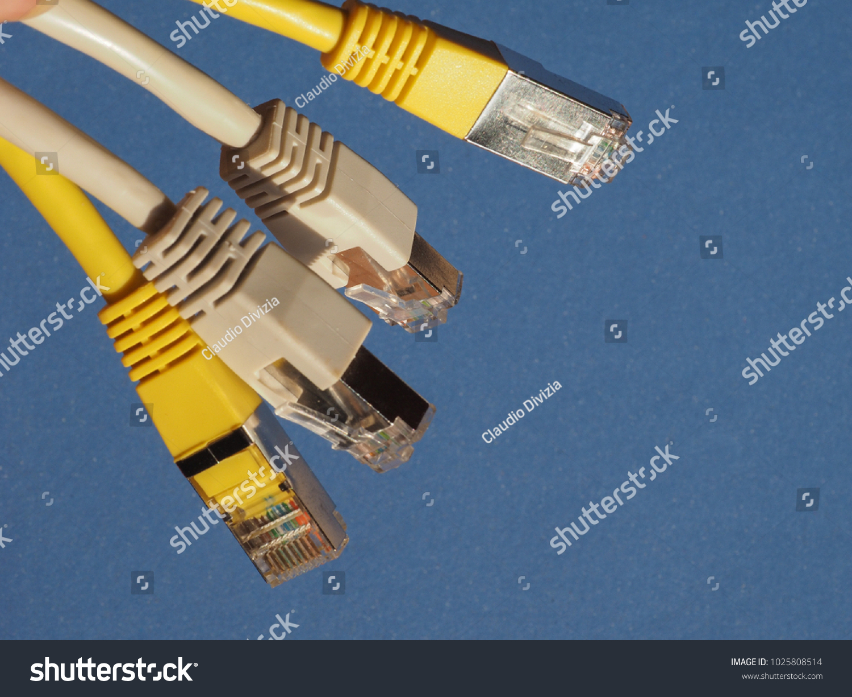 RJ 45 Plug LAN Local Area Network Stock Photo (Royalty Free ...