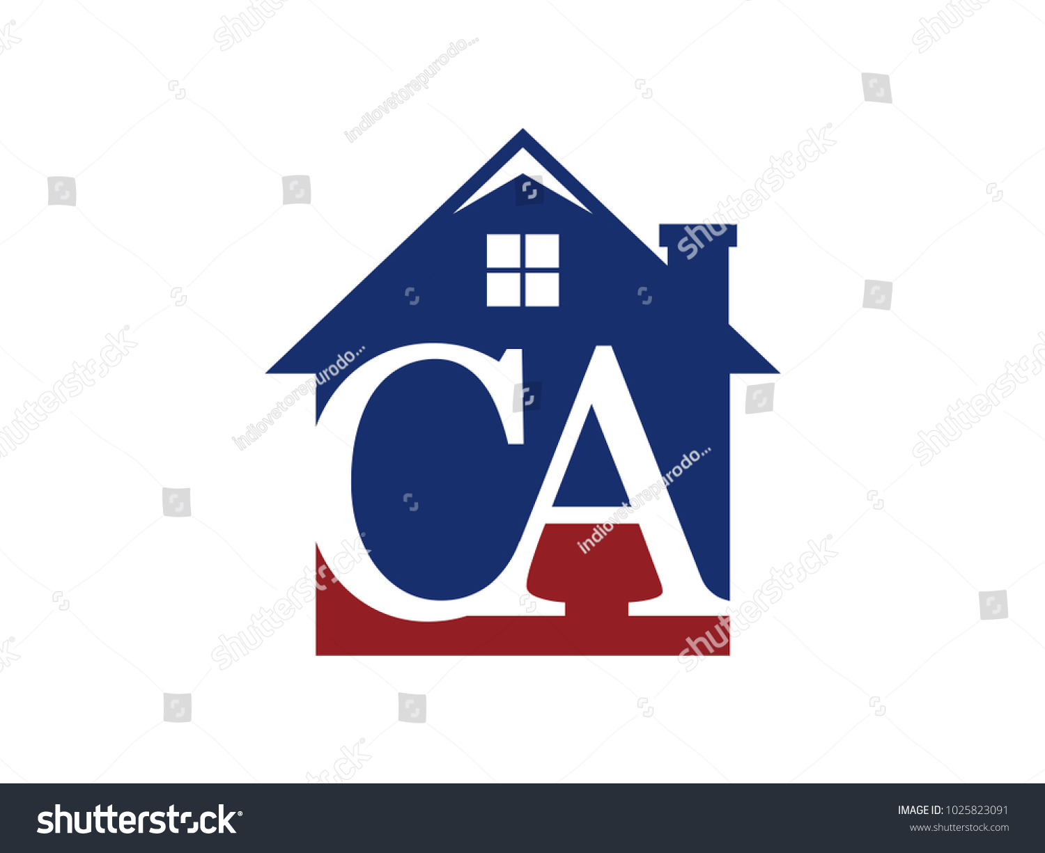 Logo house building initial letter ca stock vector 1025823091 logo house building with initial letter ca biocorpaavc