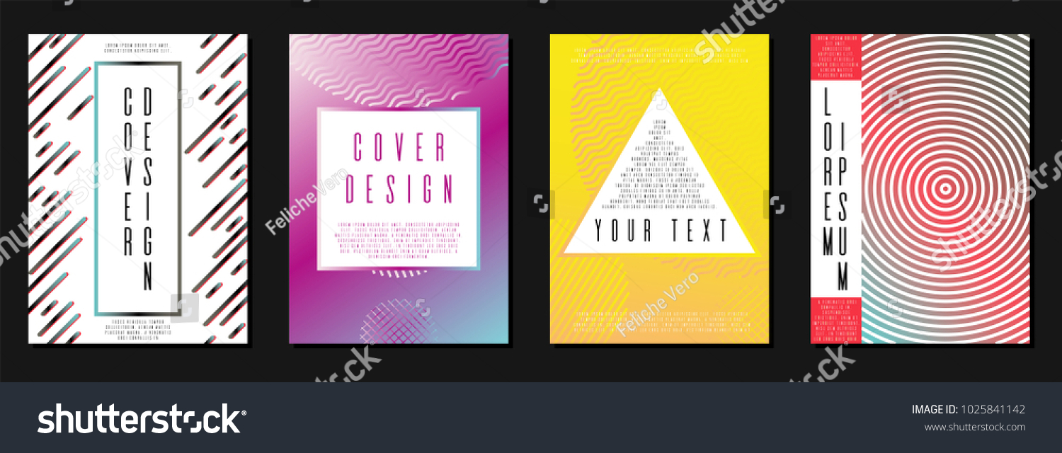 Memphis coverage corporate style template a 4 stock vector royalty memphis coverage corporate style template in a4 can be used for poster brochure maxwellsz