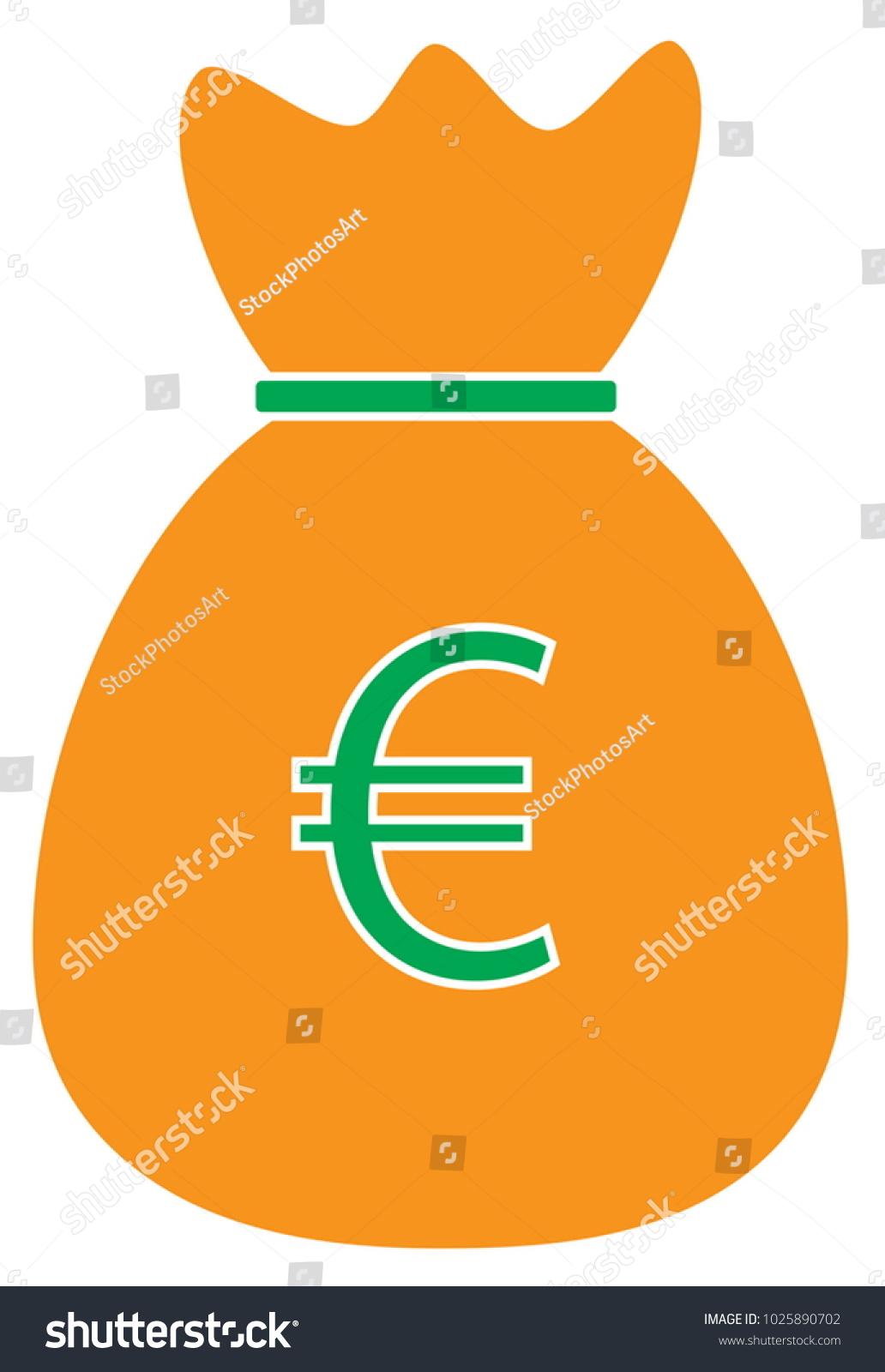 Euro currency icon logo vector over stock vector 1025890702 euro currency icon or logo vector over a money bag symbol for european union bank buycottarizona Choice Image